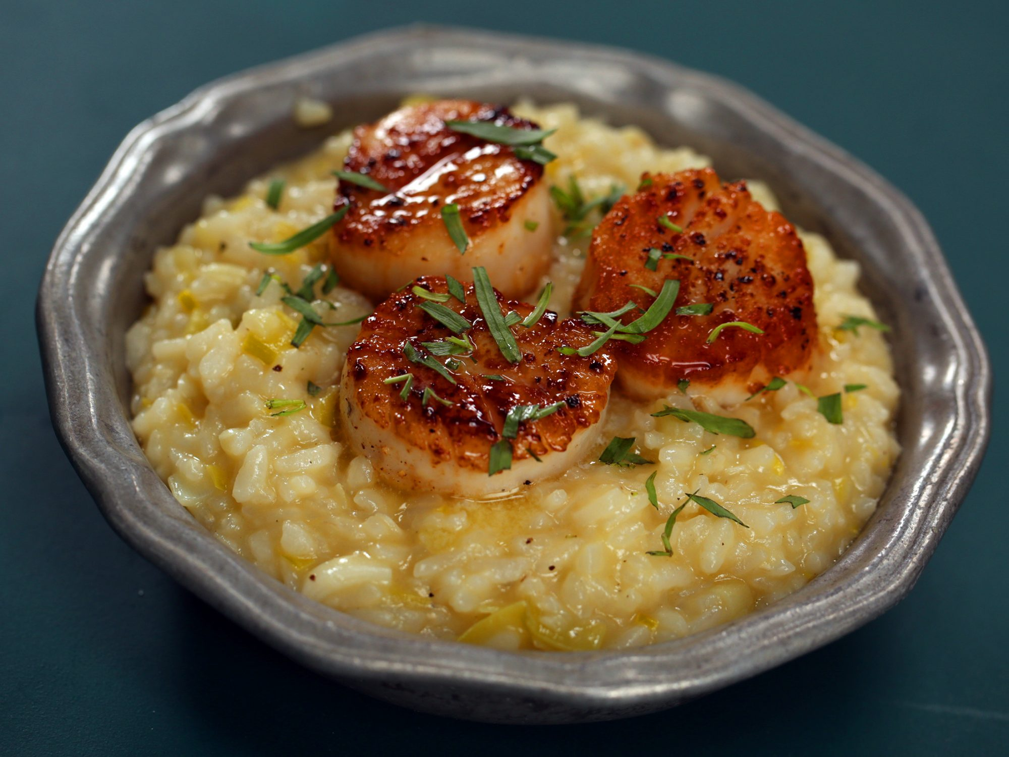 Instant Pot Risotto with Seared Scallops image