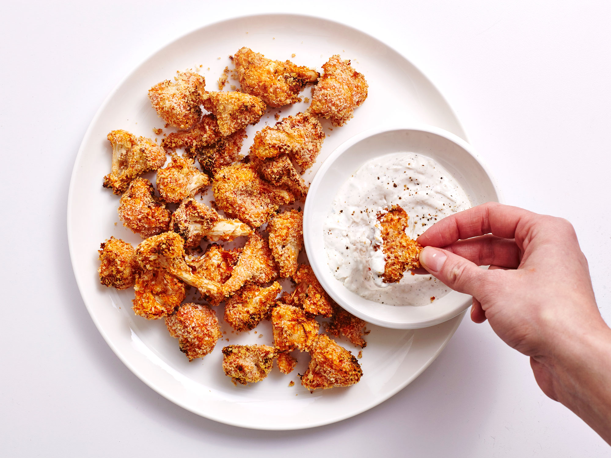 Air-Fried Buffalo Cauliflower Bites