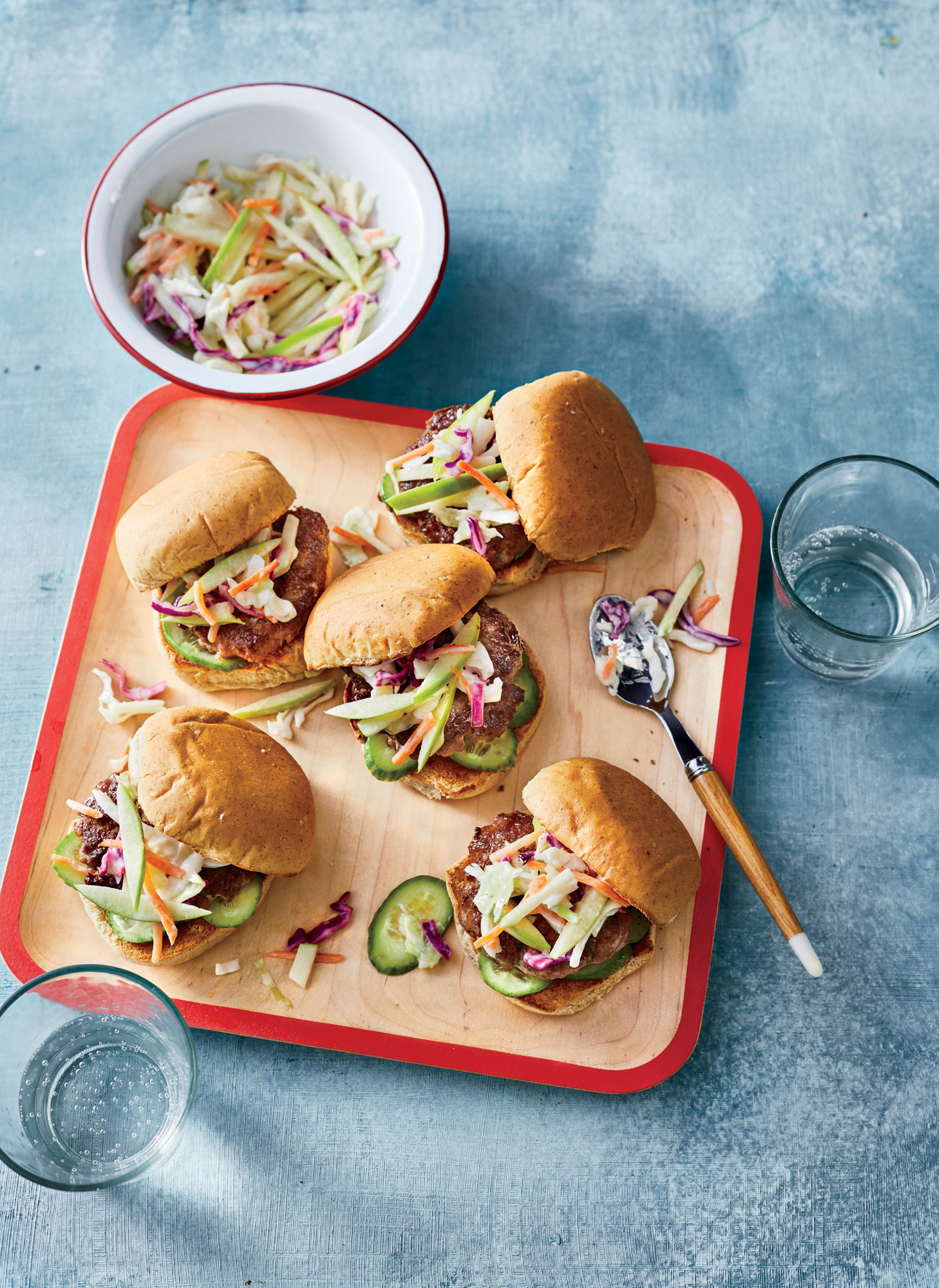Turkey Sliders with Crunchy Green Apple Slaw