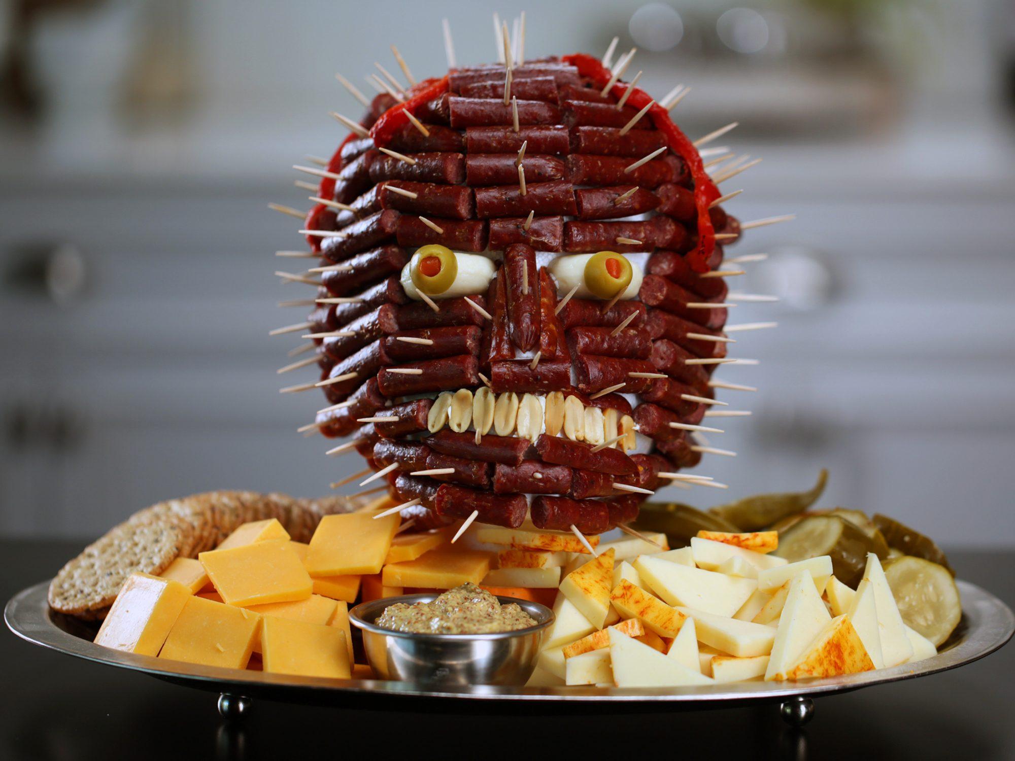 Sausage Head Charcuterie Board image