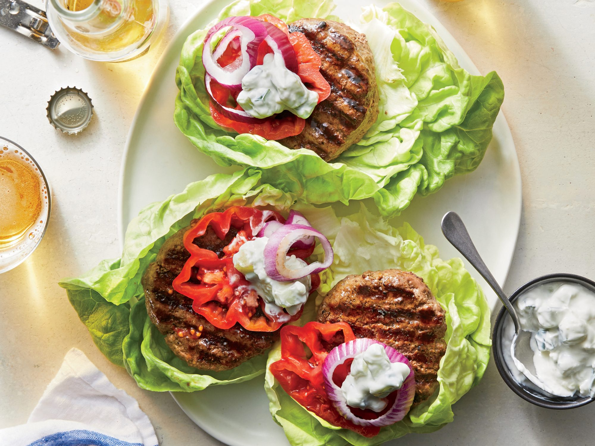 Grilled Beef-Mushroom Burgers