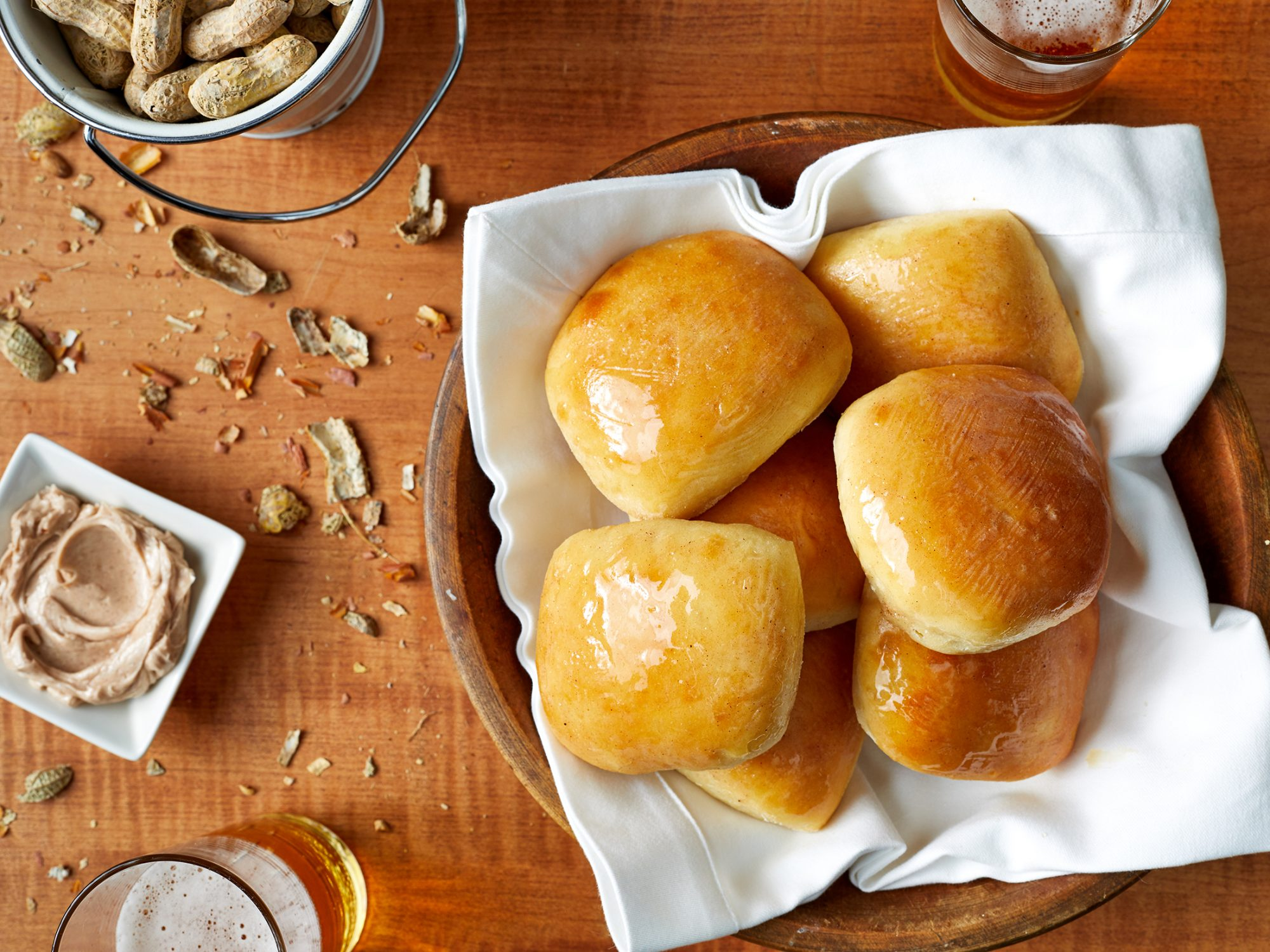 Texas Roadhouse Rolls with Cinnamon-Honey Butter image