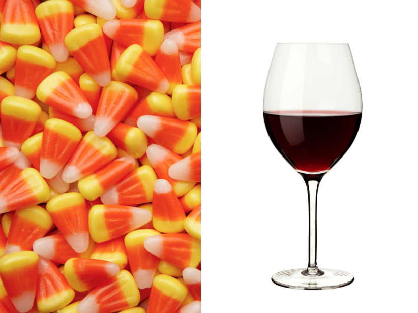 candy corn and wine