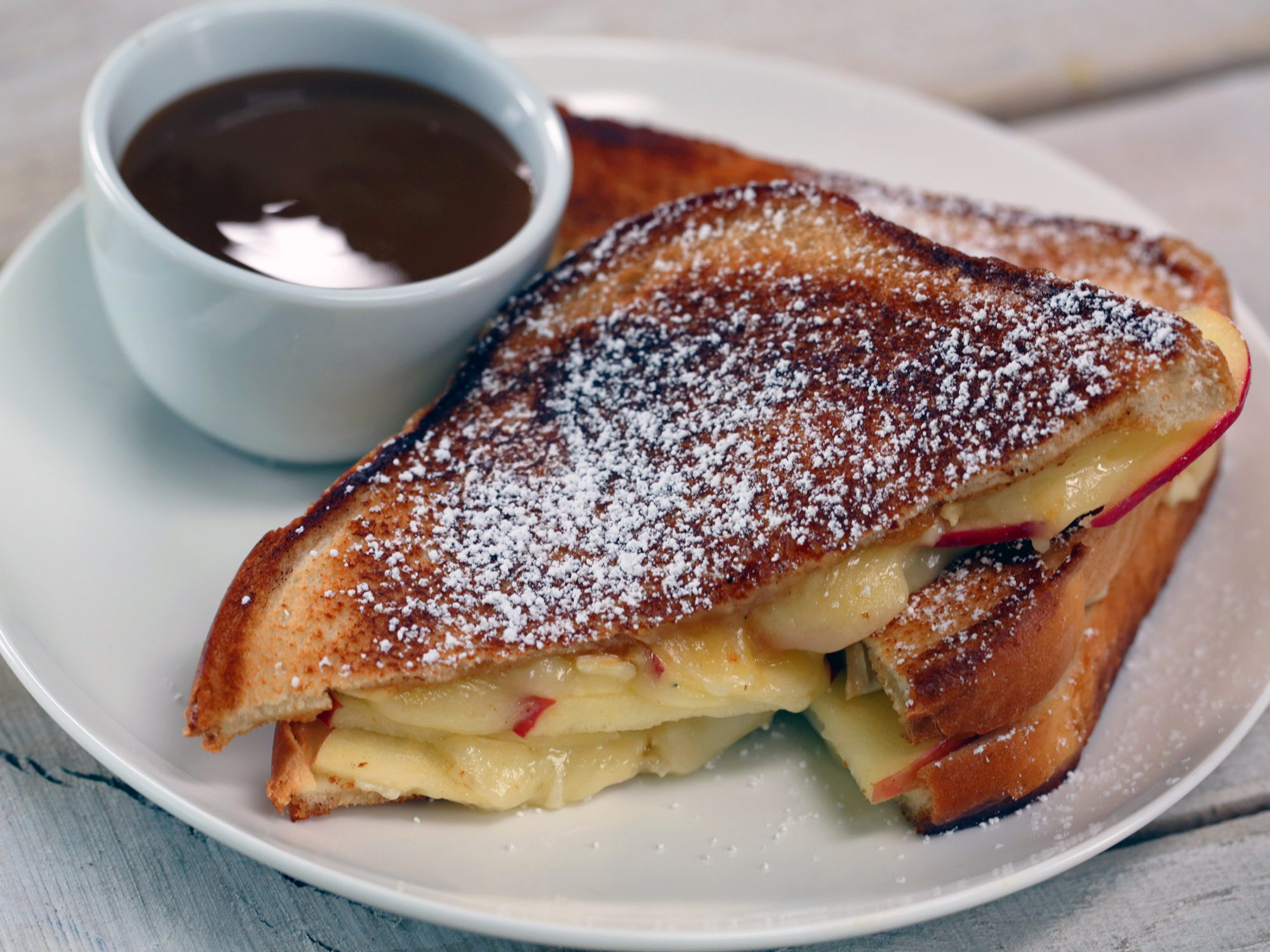 Caramel Apple Grilled Cheese image