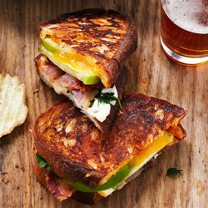 Tomatillo Grilled Cheese and Bacon Sandwiches