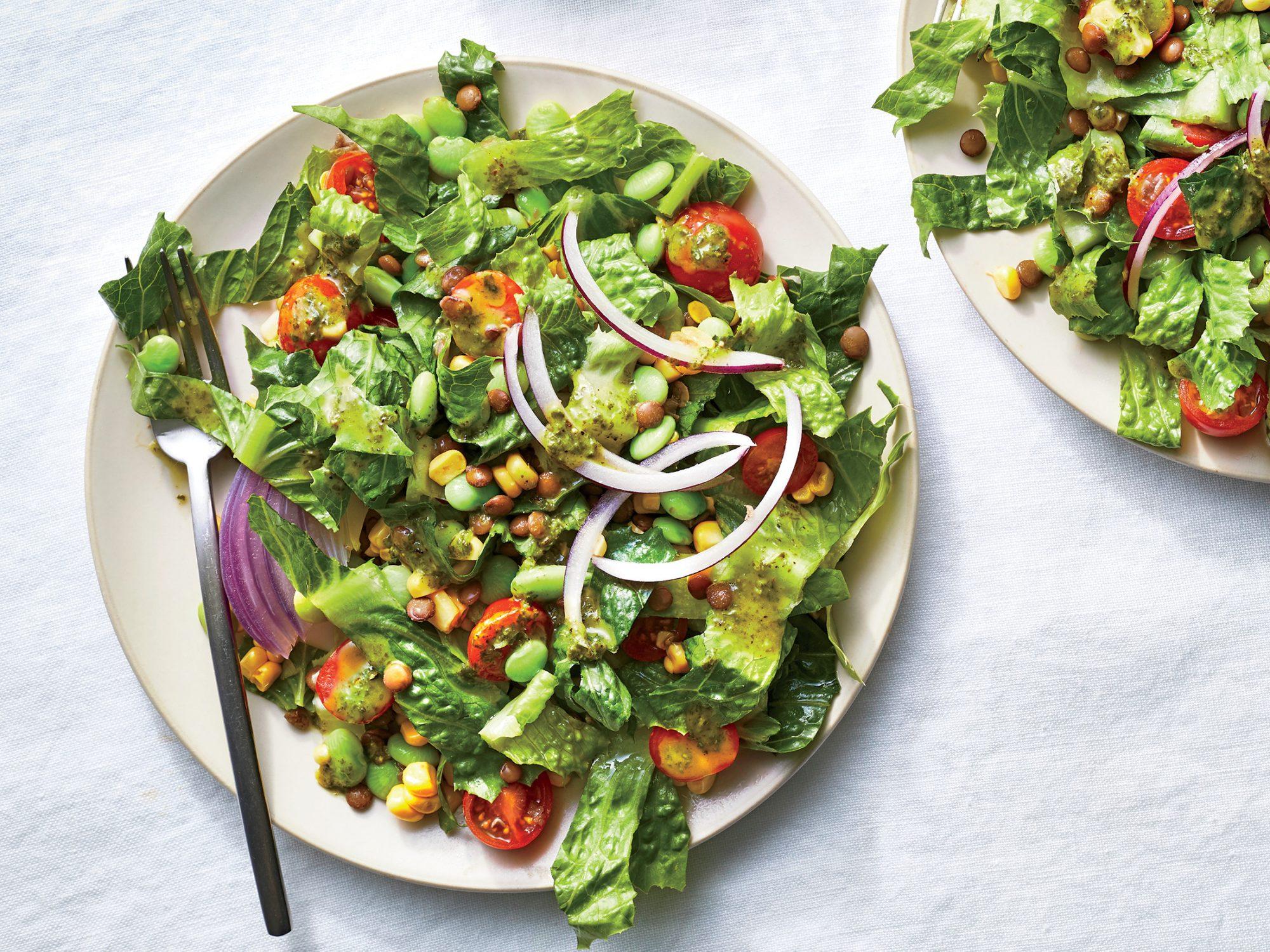 Succotash Salad with Lentils