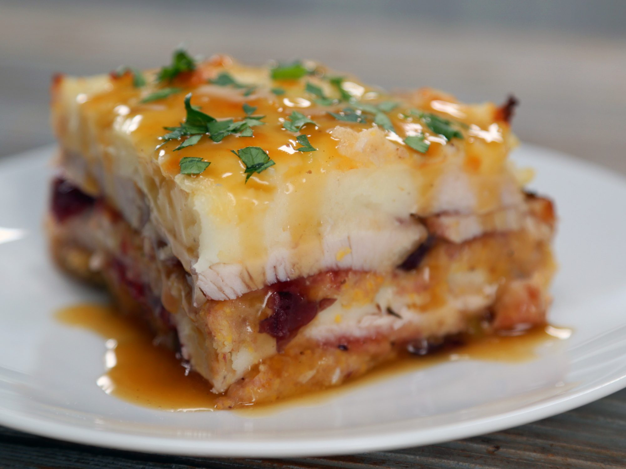 Thanksgiving Leftovers Lasagna image