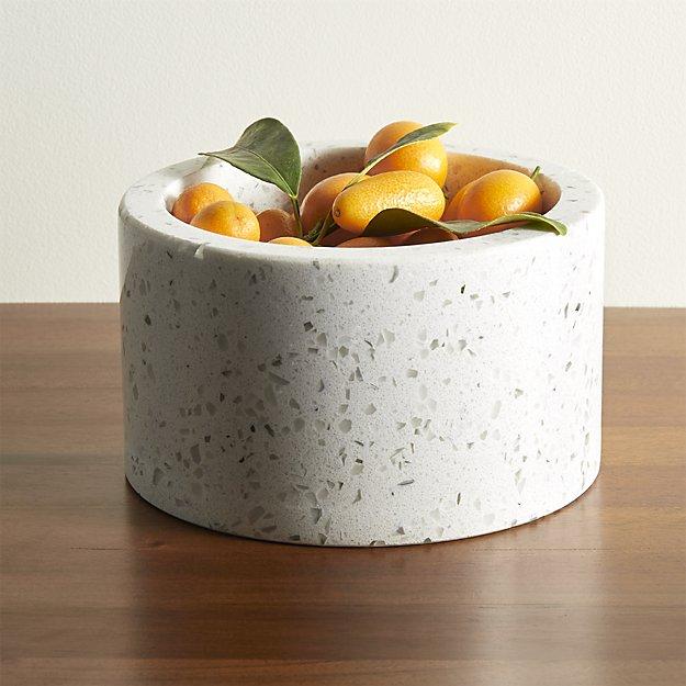 Terrazo White Snack Bowl