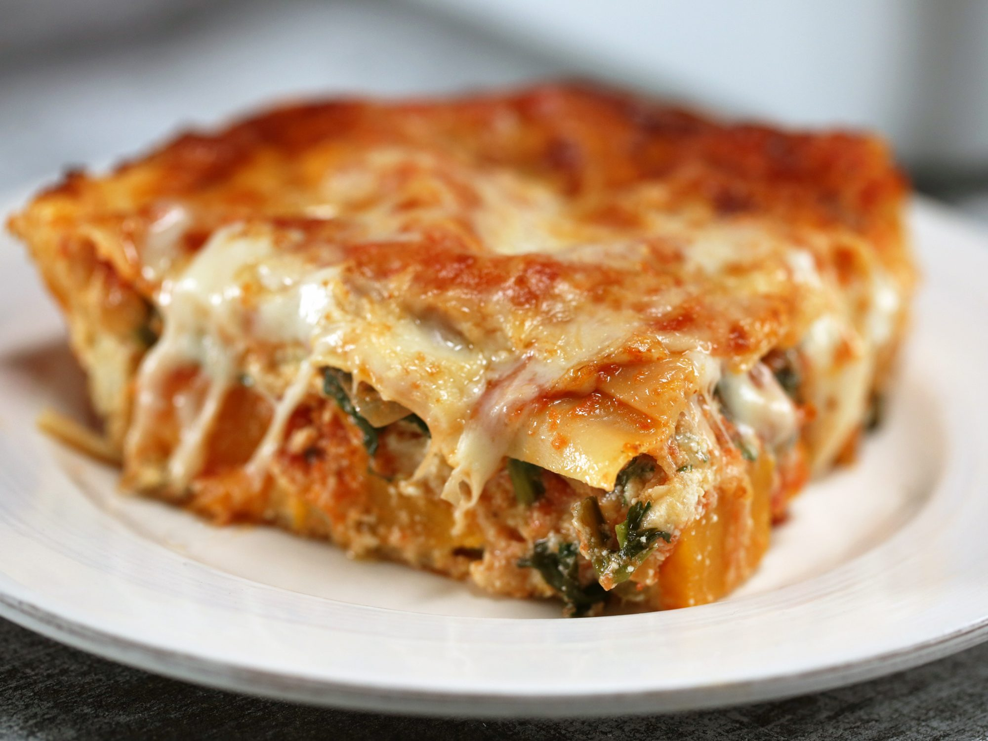 Roasted Butternut Squash-and-Spinach Lasagna image