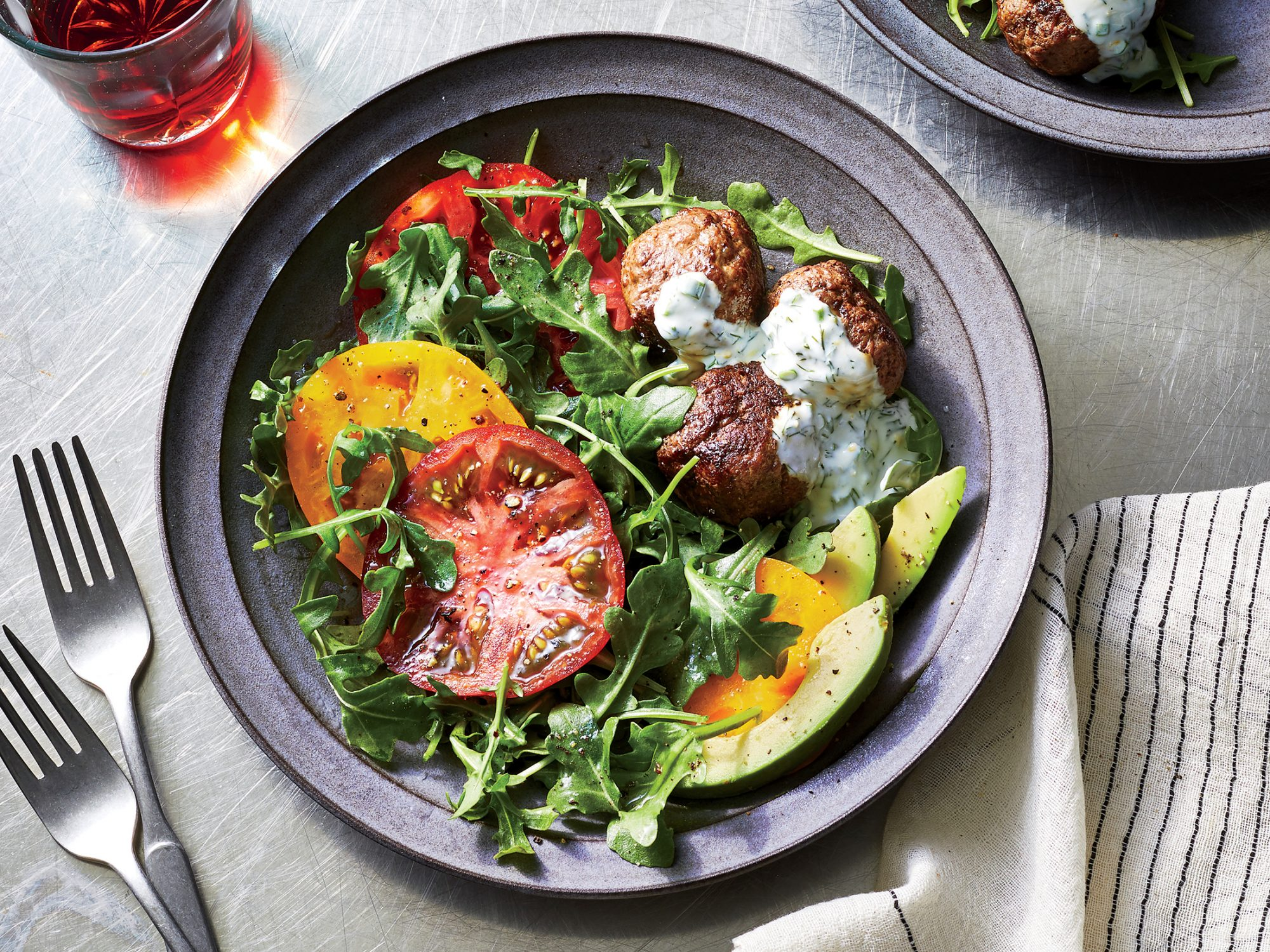 Meatball and Tomato Salad