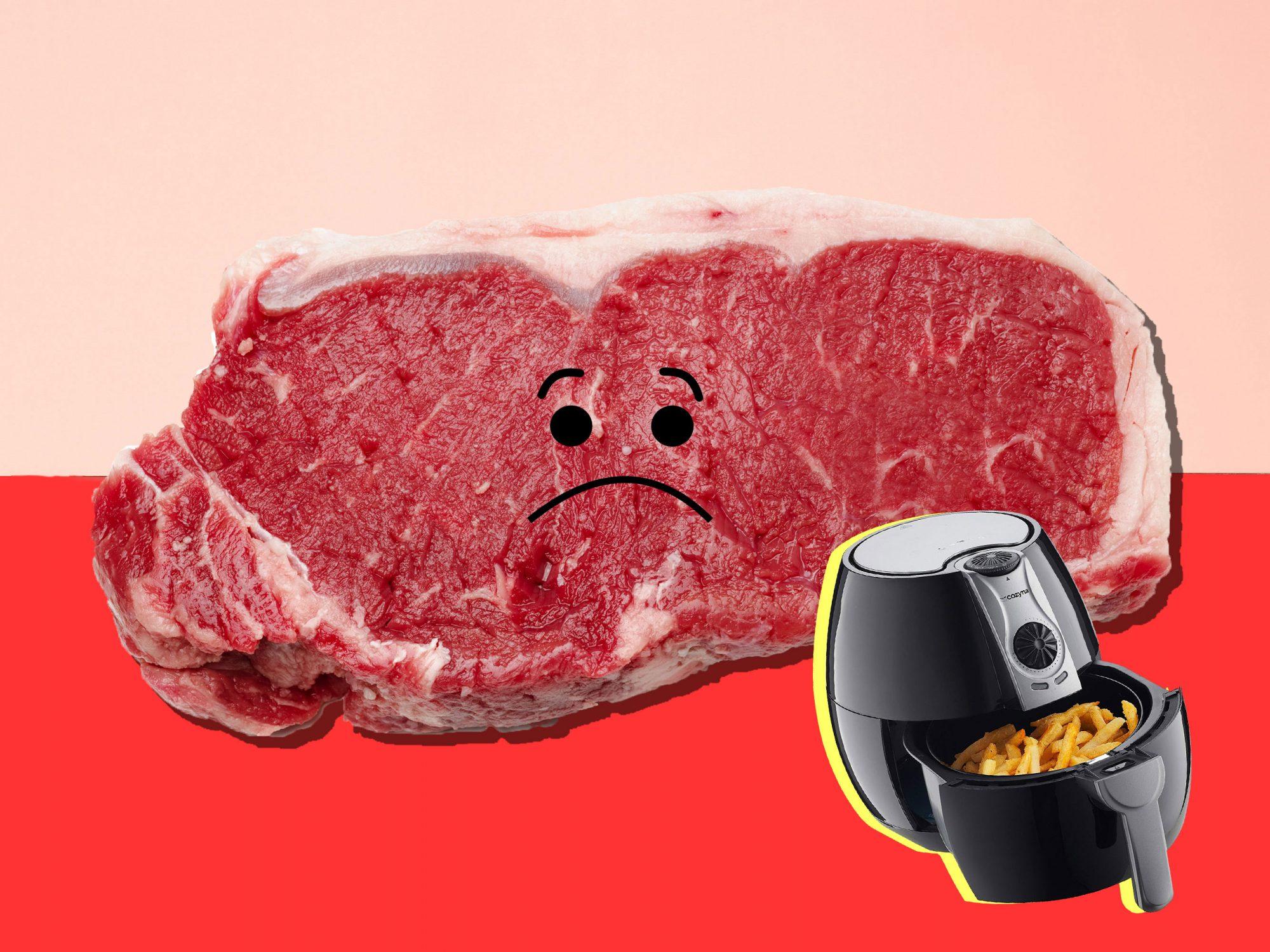 Air Fryer Steak Fail