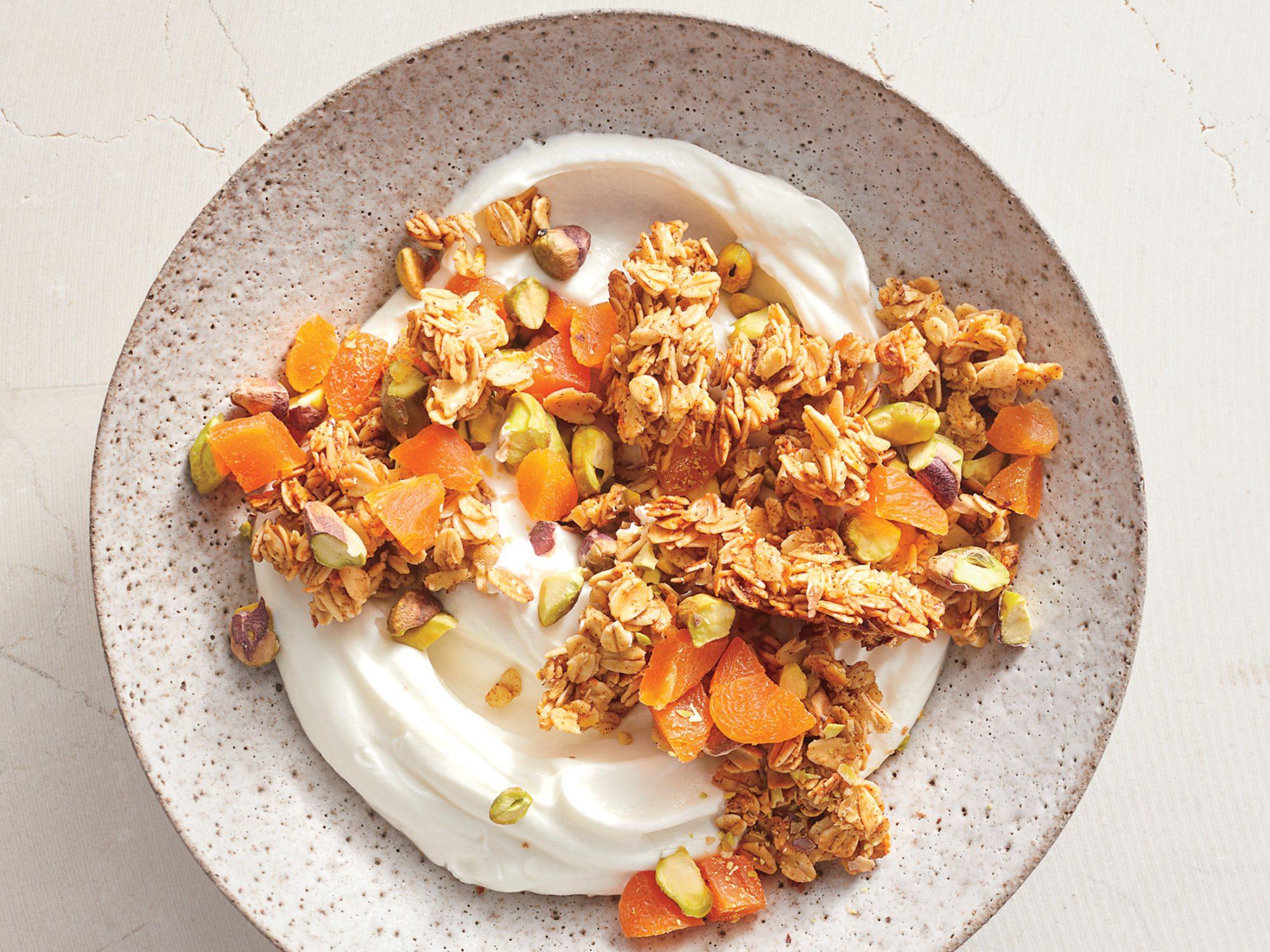 Pistachio Granola with Yogurt