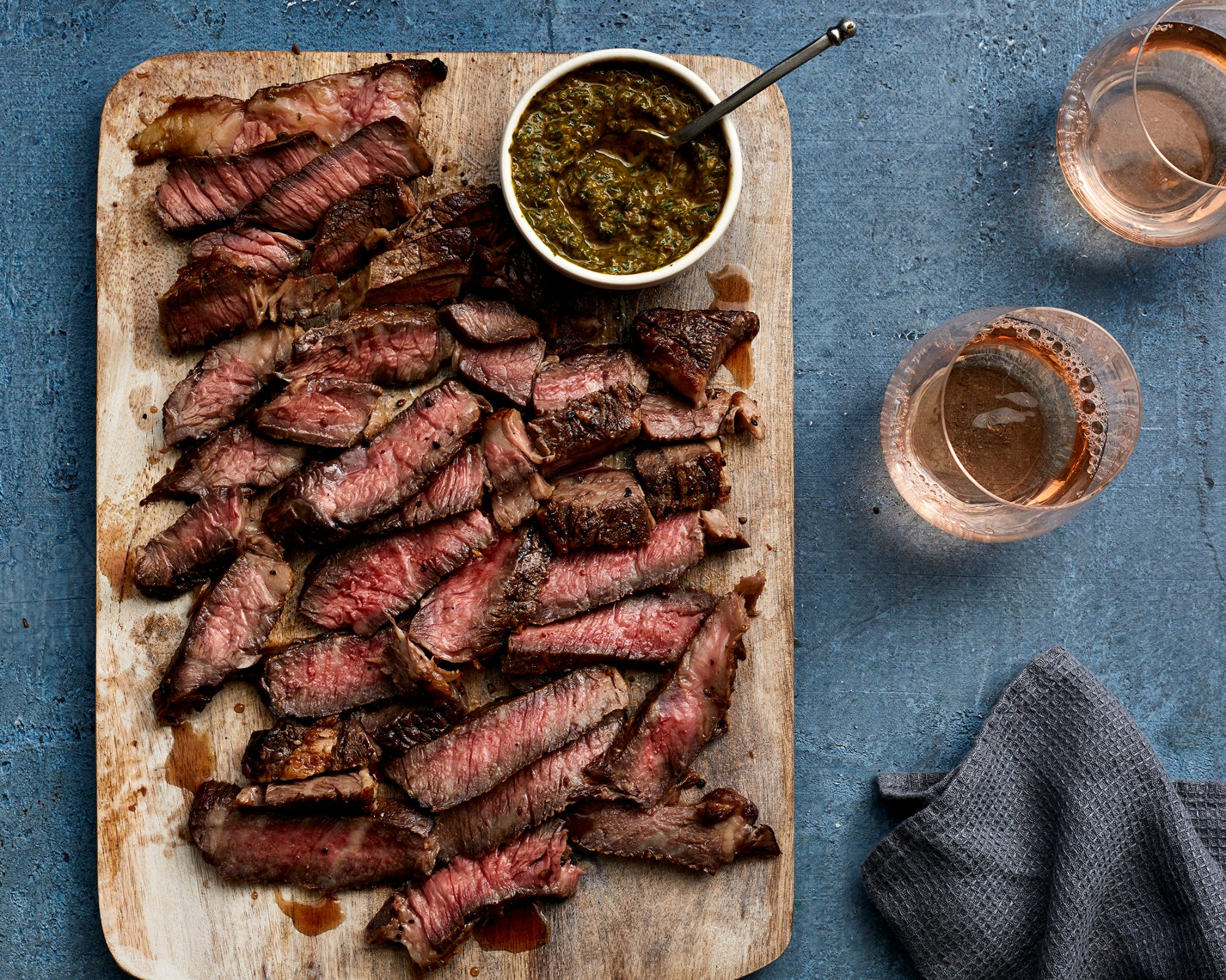 Foolproof Chuck Steak with Smoky Chimichurri