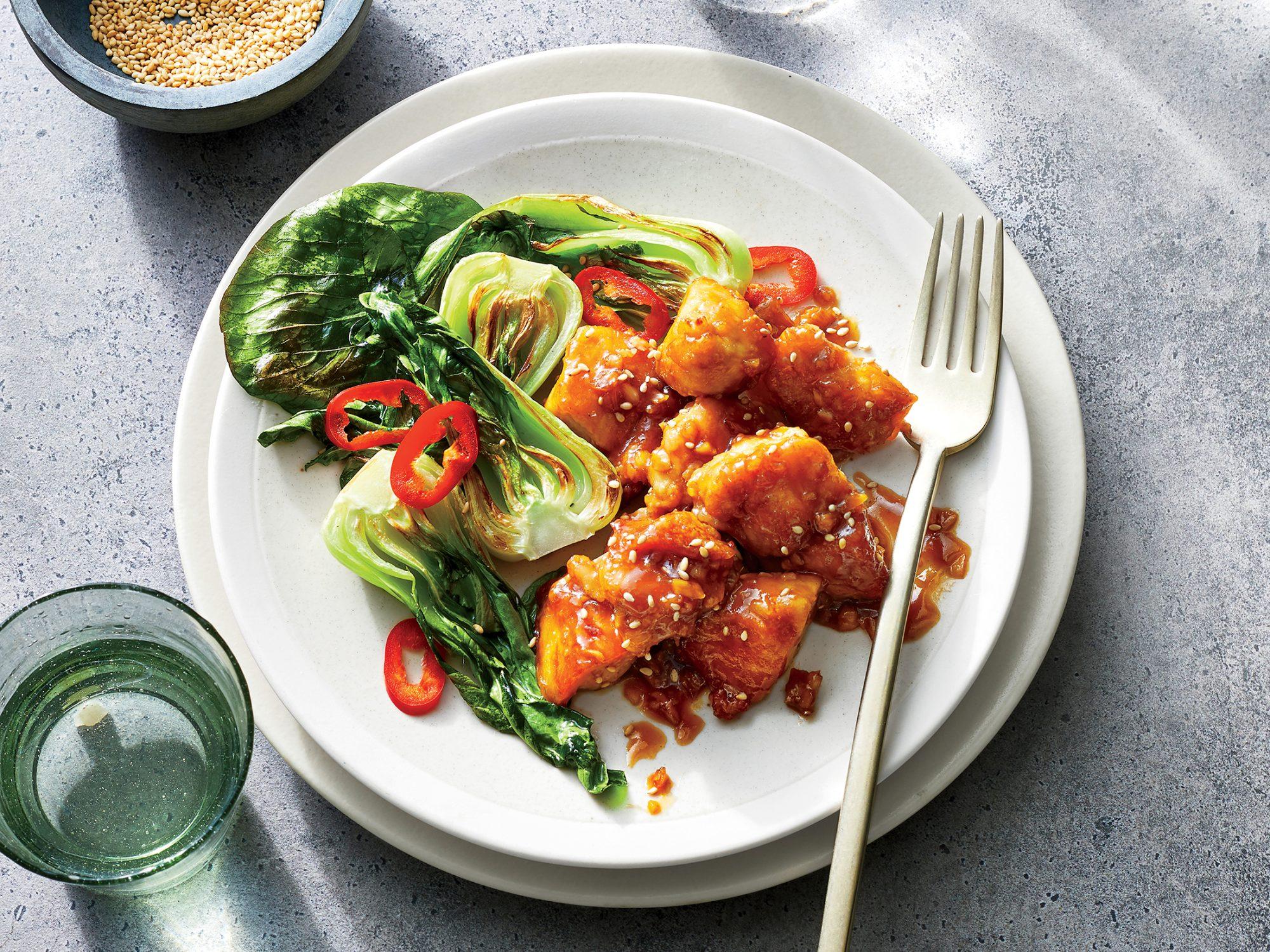 Chicken Stir-fry with Bok Choy