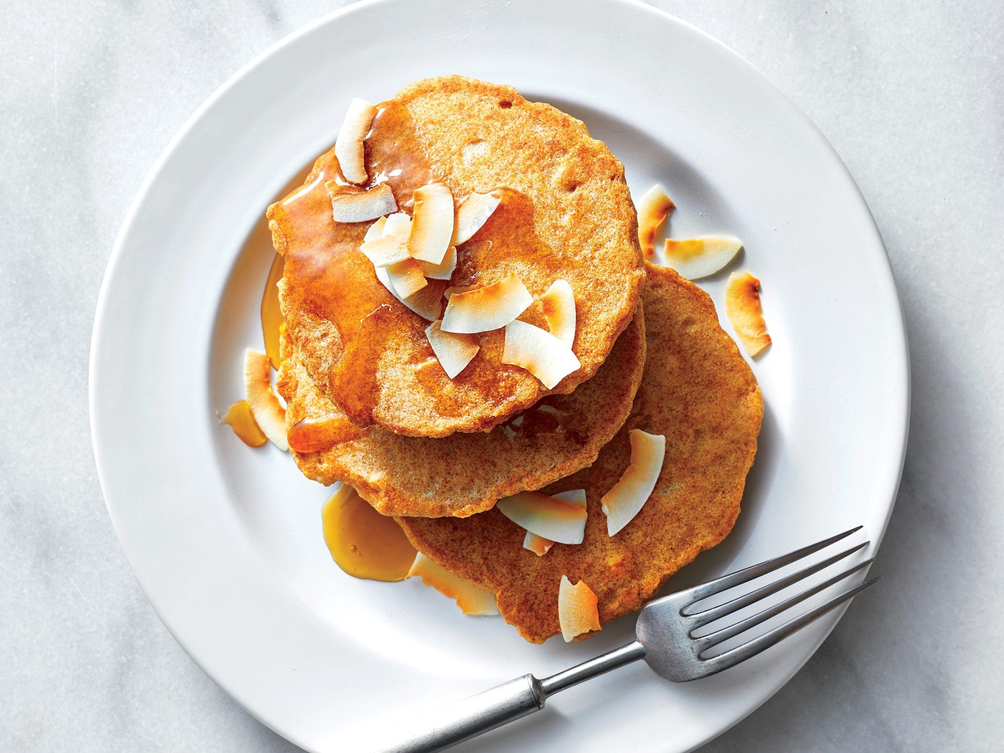 Coconut-Cashew Pancakes