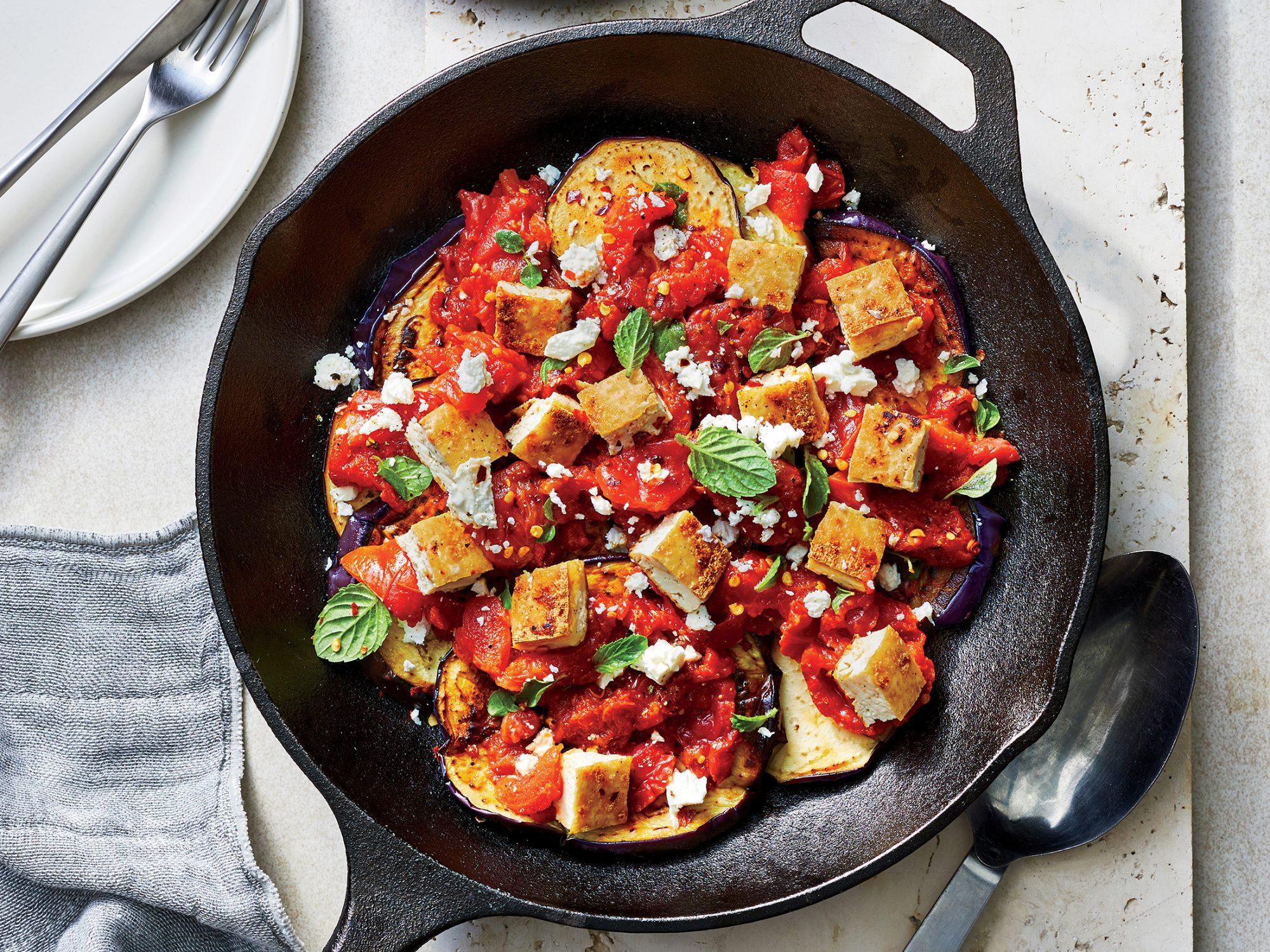 Greek Eggplant Skillet Dinner