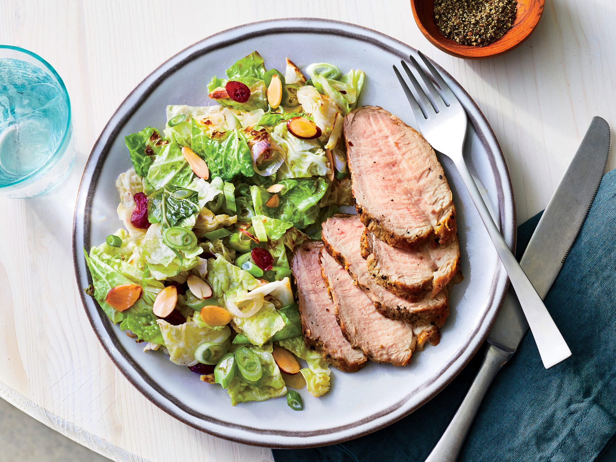 Roasted Pork Tenderloin with Cabbage