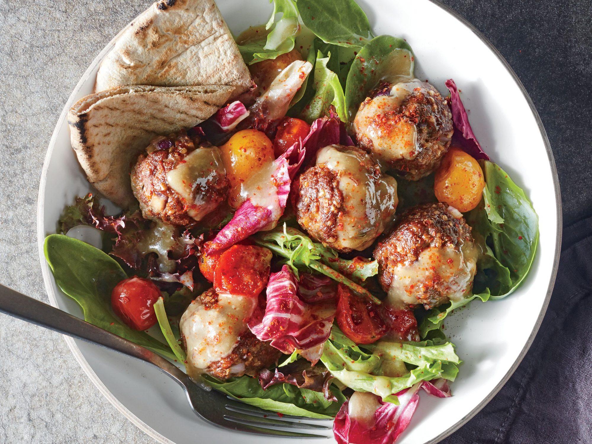 Aleppo-Spiced Meatball Salad