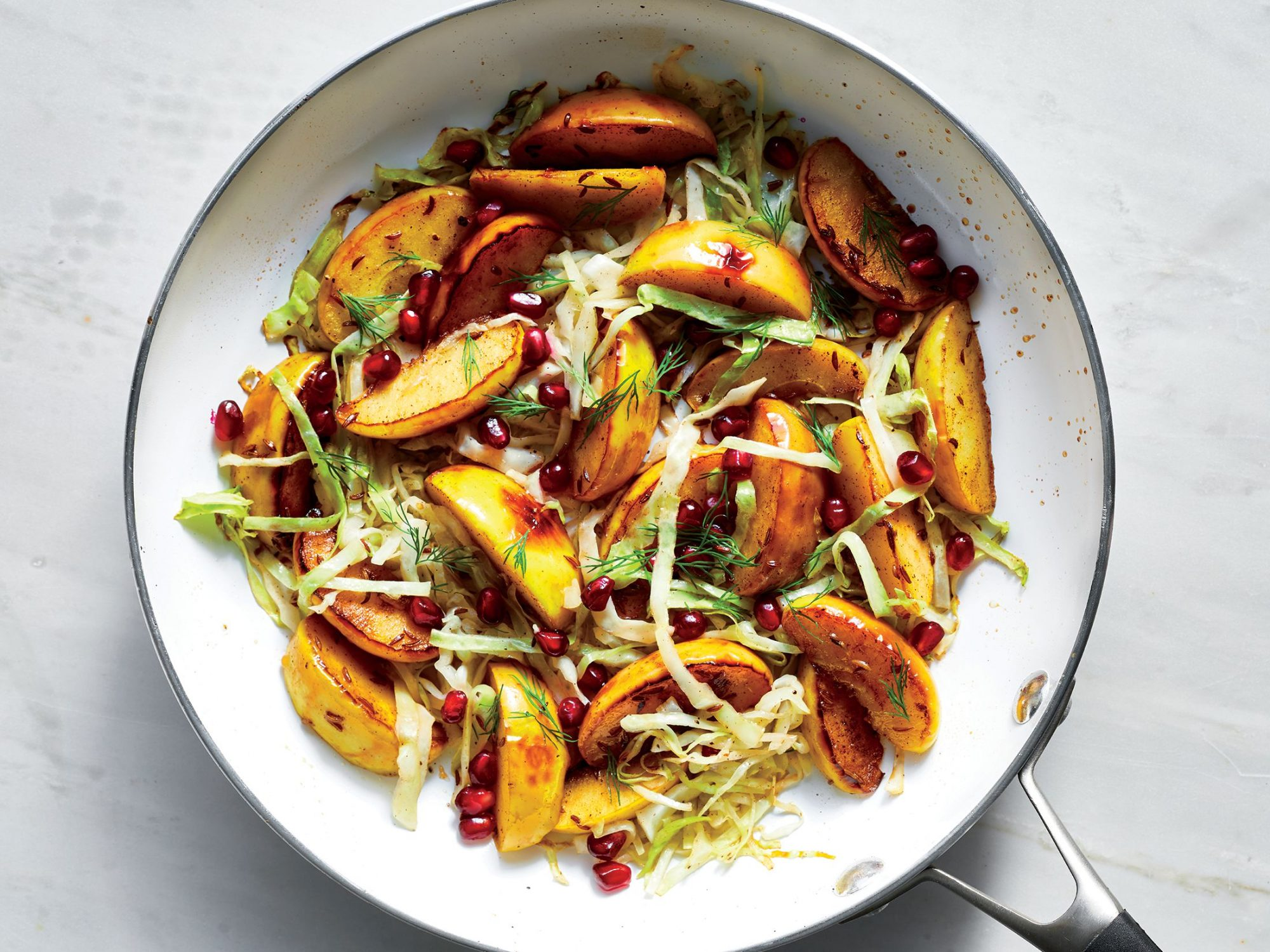 Spiced Apples and Cabbage