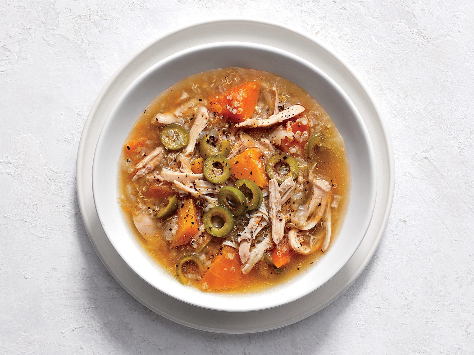 Slow Cooker Mediterranean Chicken and Quinoa Stew