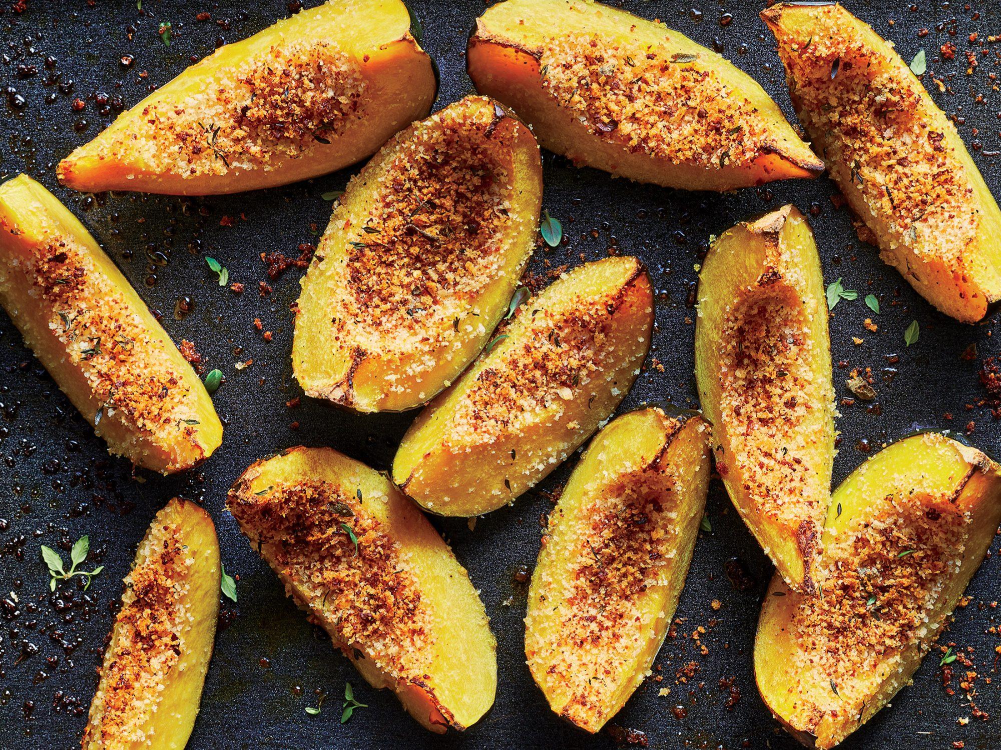 Panko-Crusted Acorn Squash