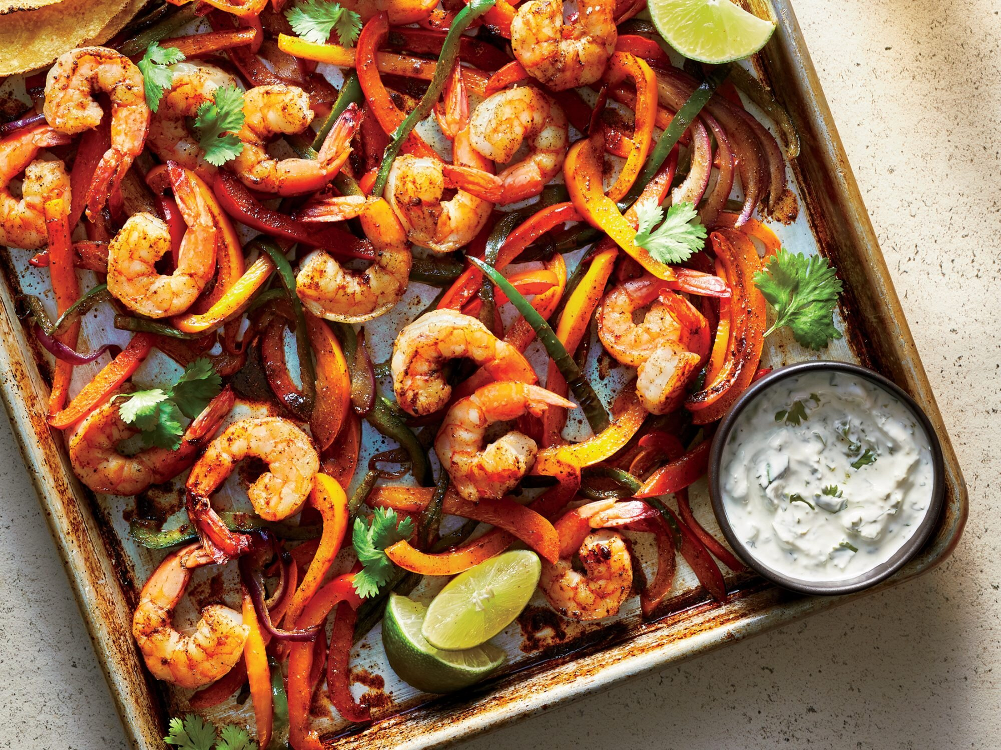 Sheet Pan Shrimp Fajitas Recipe ...