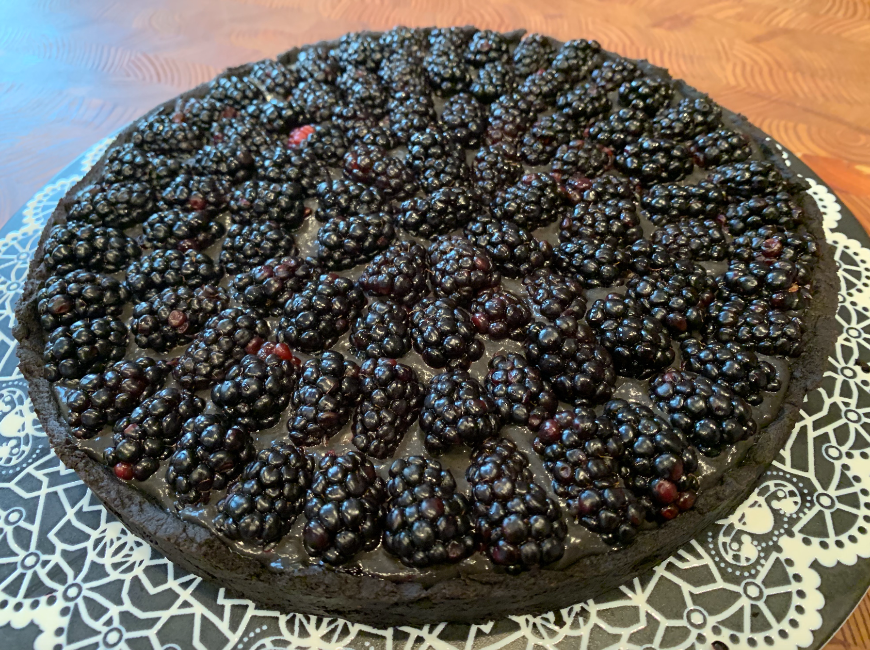 Black Tahini Tart with Black Cocoa Crust