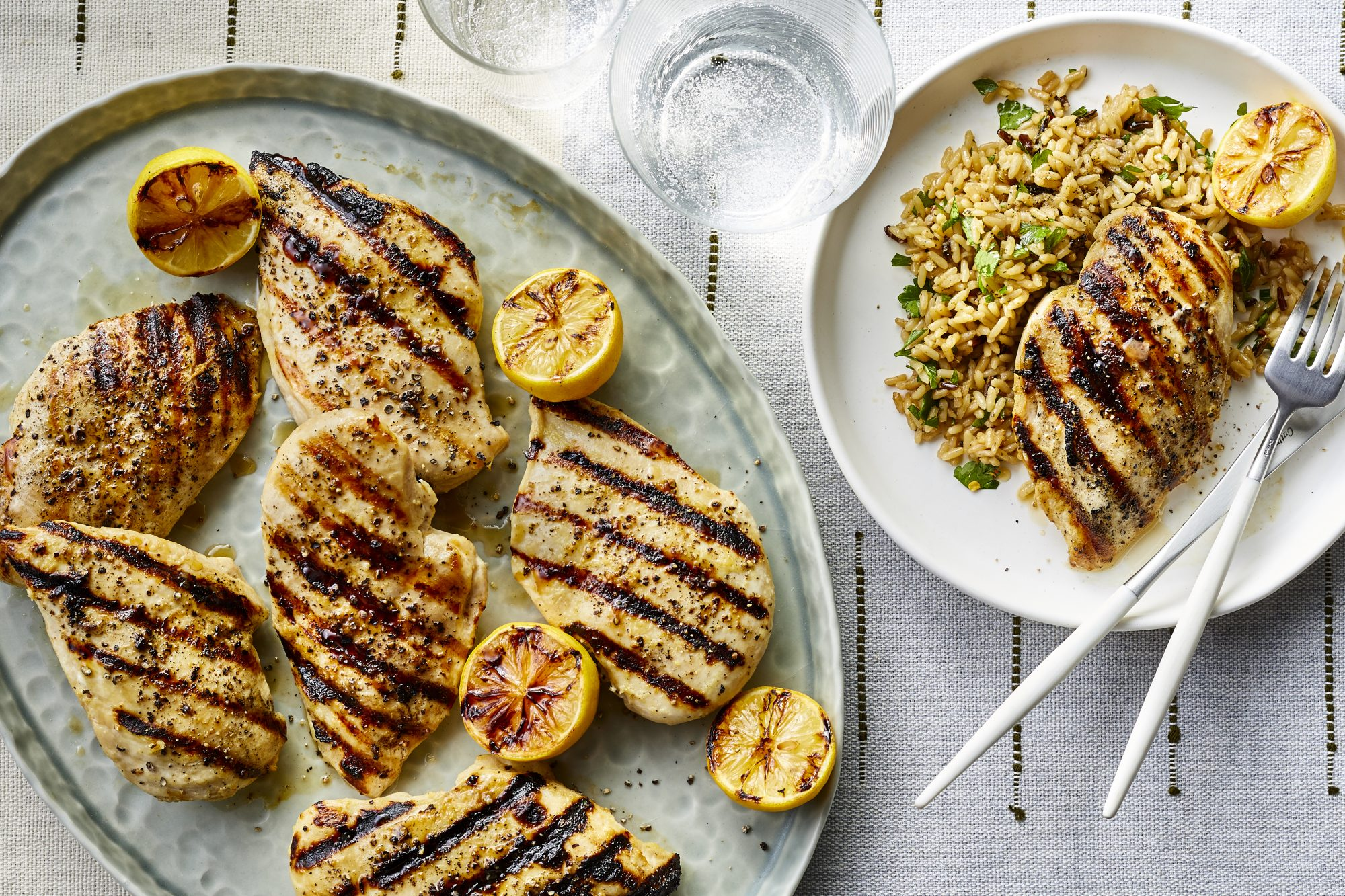 Lemon-Grilled Chicken Breasts