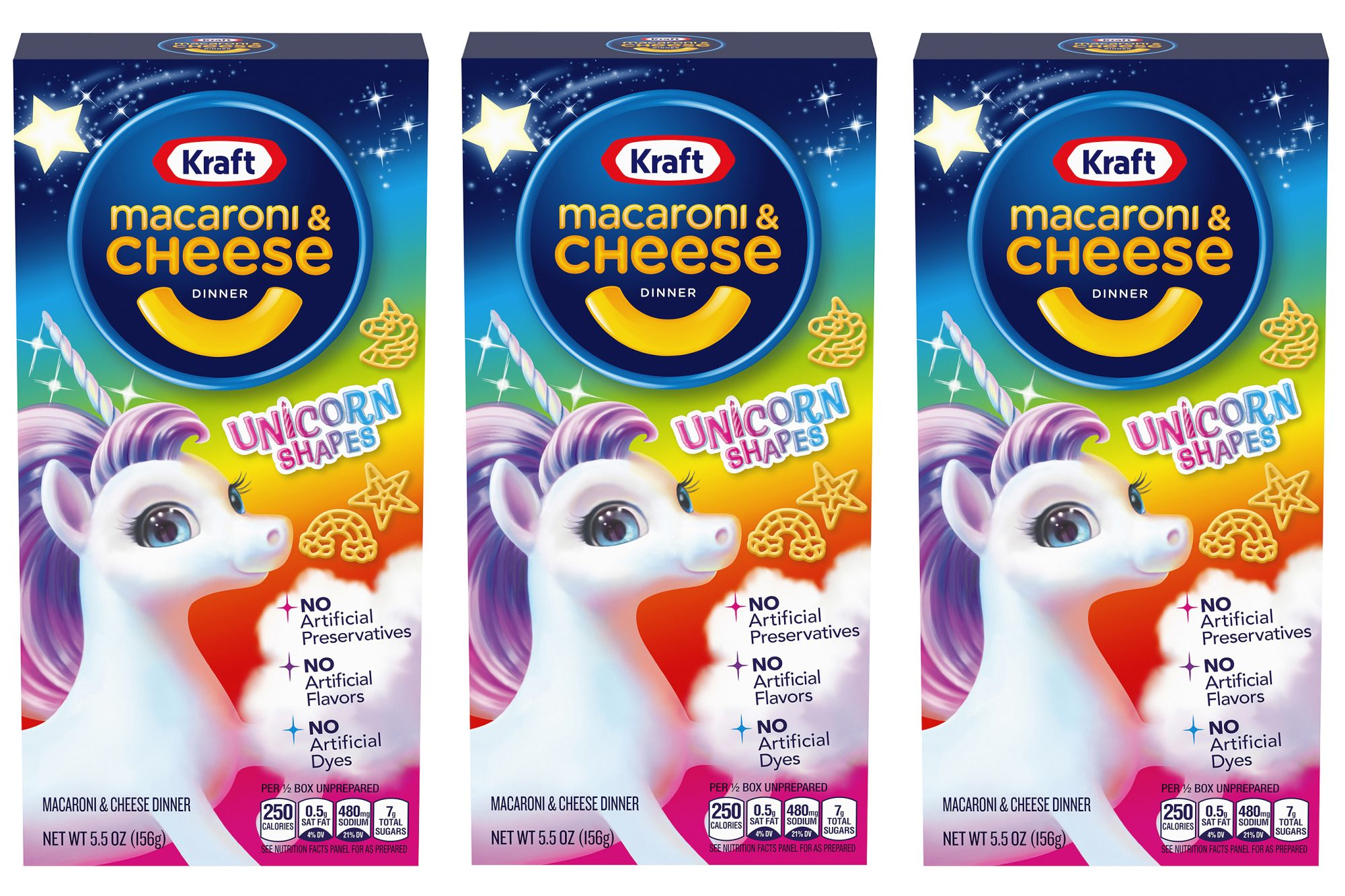 Kraft Macaroni and Cheese Now Has Unicorn Shapes kraft-unicorn-mac