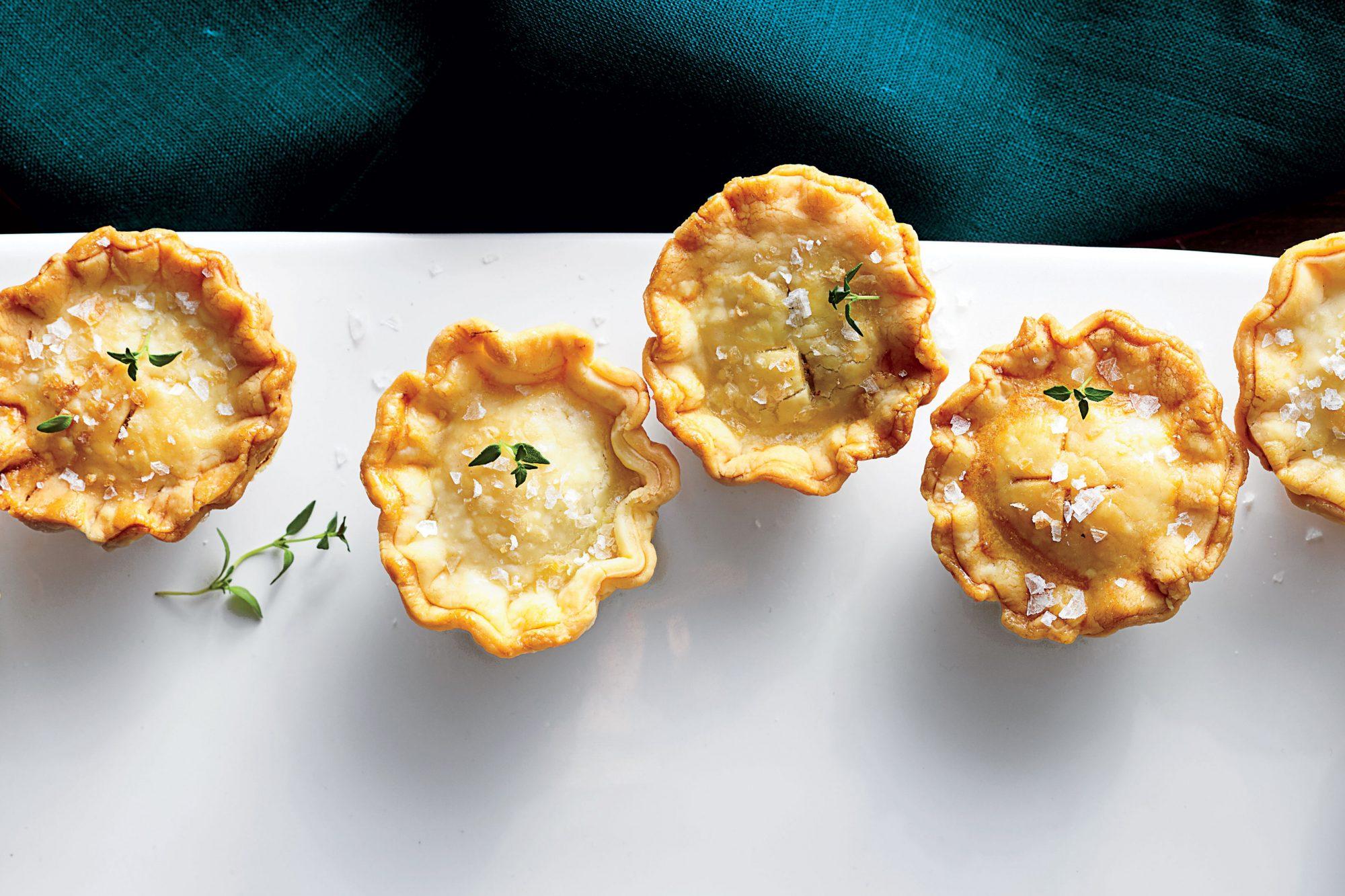 Mini Mushroom-and-Goat Cheese Pot Pies