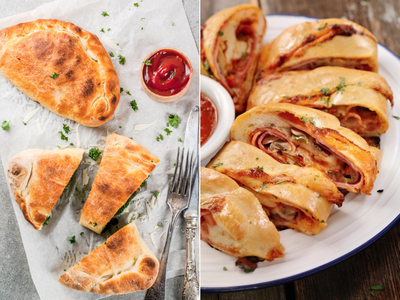 Stromboli and calzone