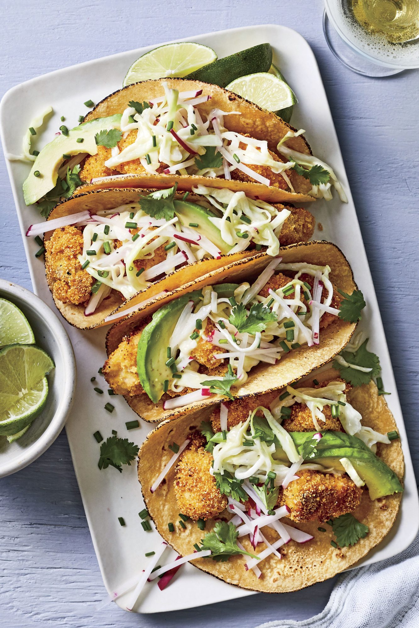 Crispy Catfish Tacos with Slaw