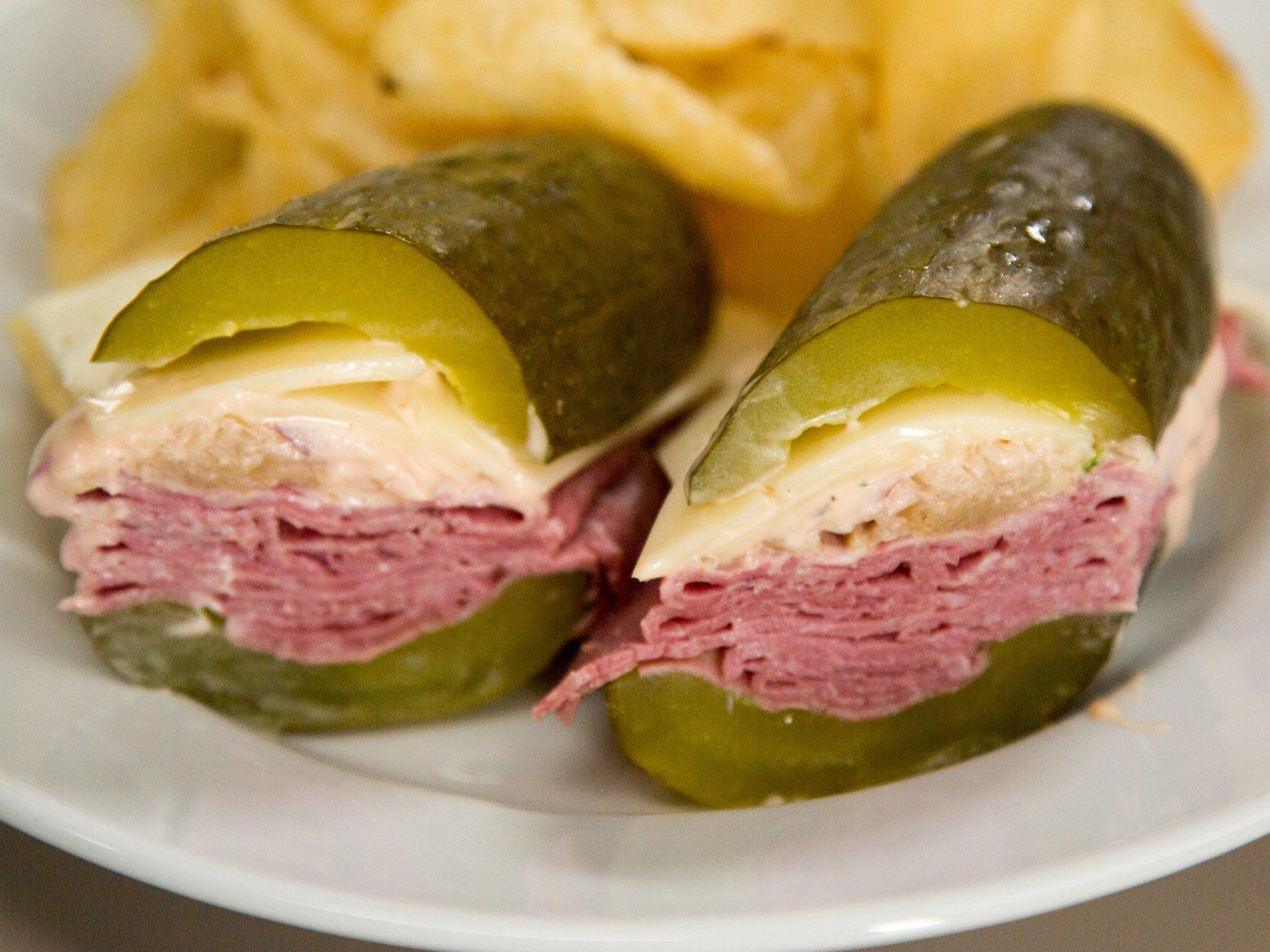 Pickle Bun Reuben Sandwiches image