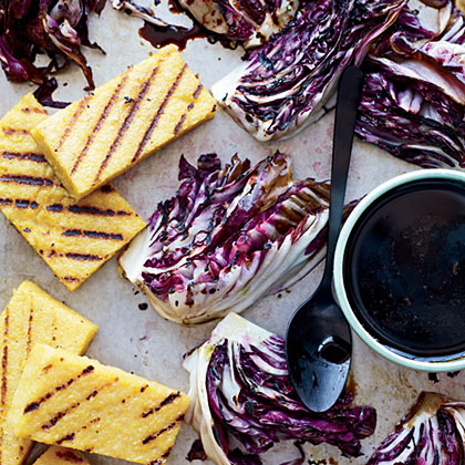 Grilled Polenta and Radicchio with Balsamic Drizzle