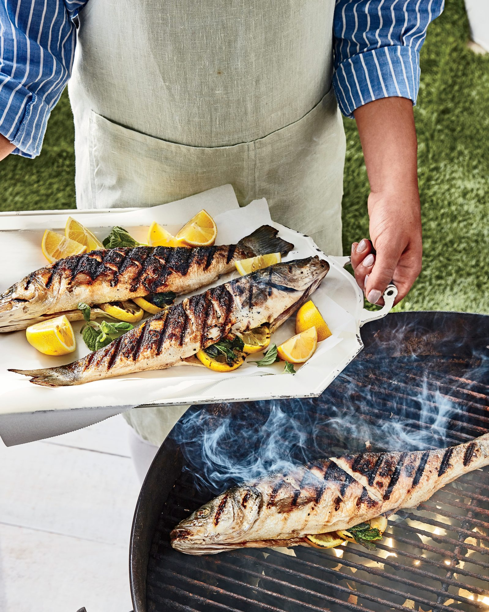 Grilled Whole Branzino with Chermoula