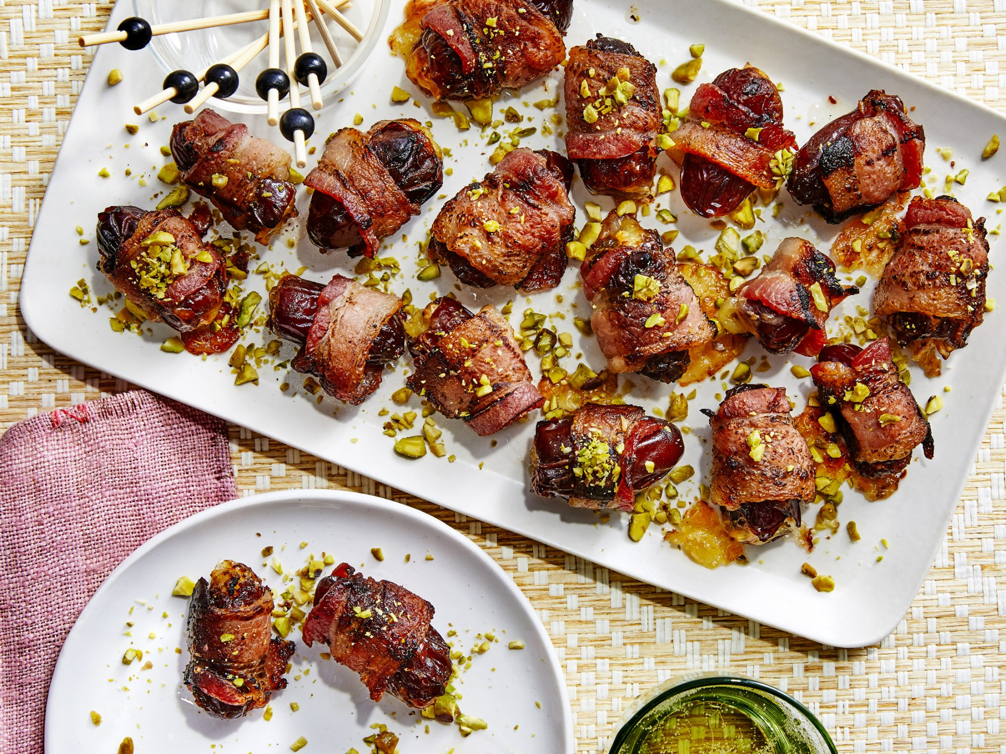 Bacon-Wrapped Grilled Dates with Brie
