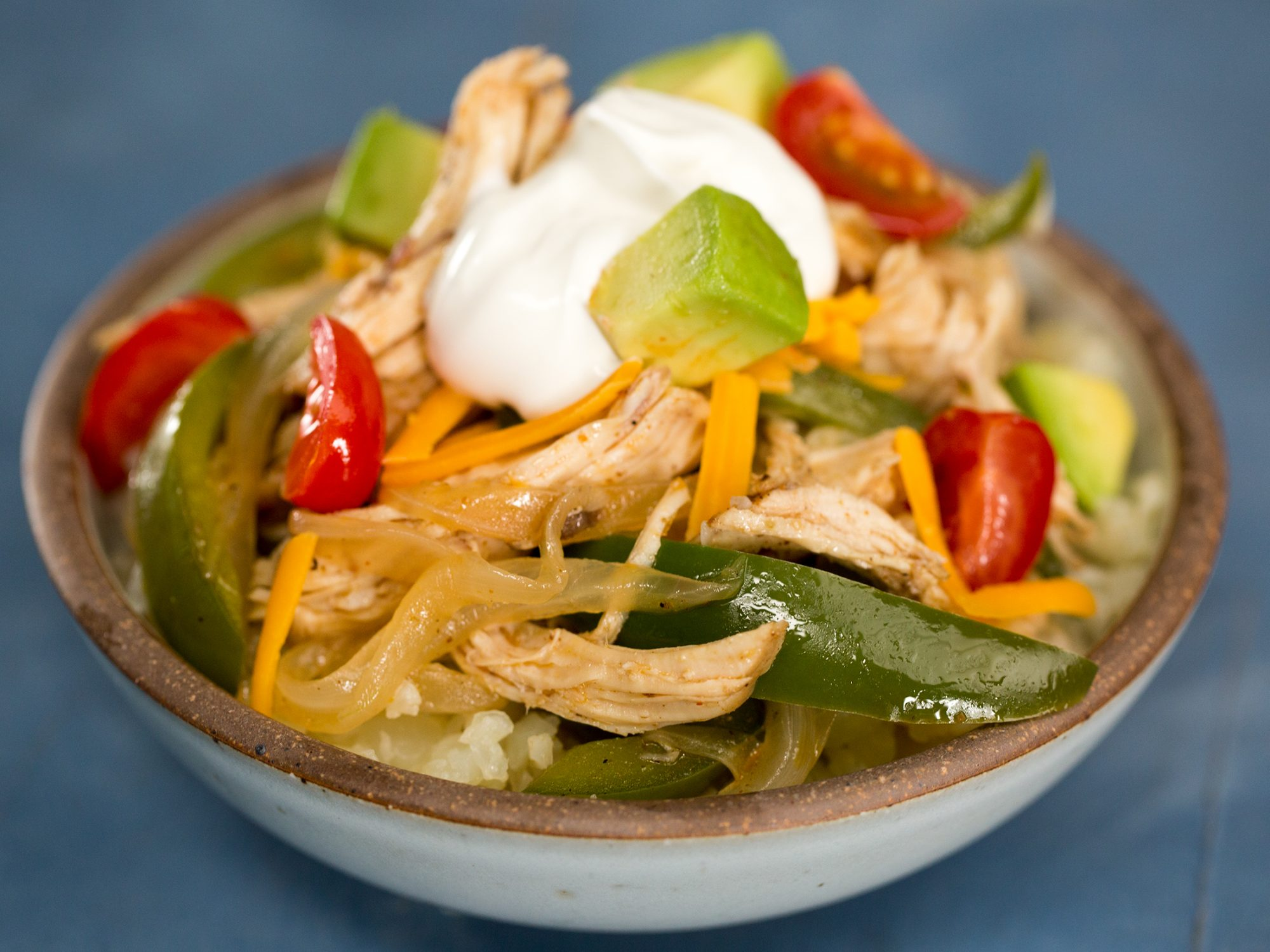 Instant Pot Keto Chicken Fajita Bowls image