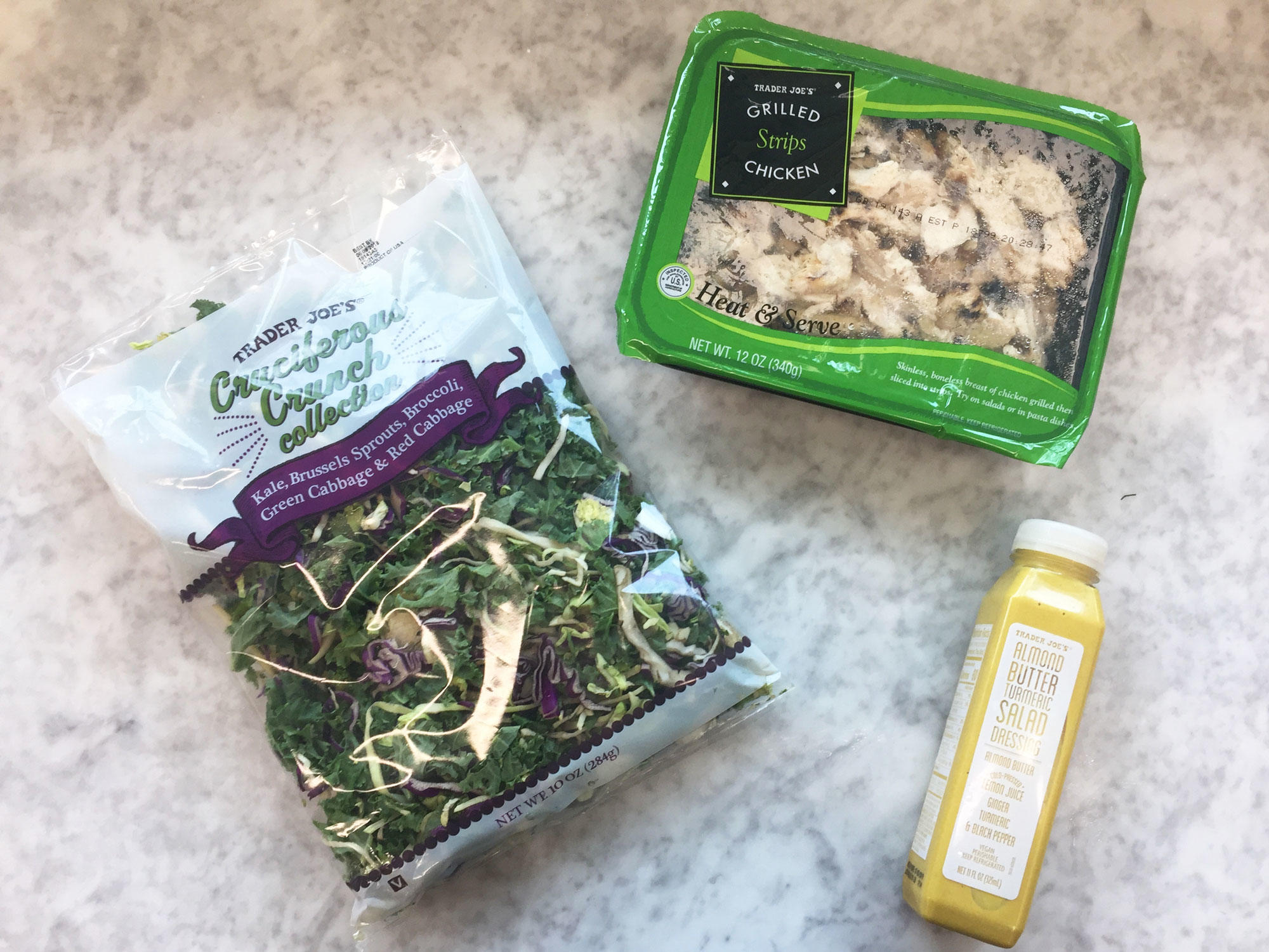 These Trader Joe's Meals Have Fewer Than 4 Ingredients and Take Under 10 Minutes to Make kalesalad