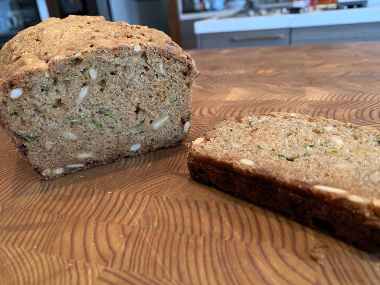 Zucchini Bread With Pine Nuts and White Chocolate Chips