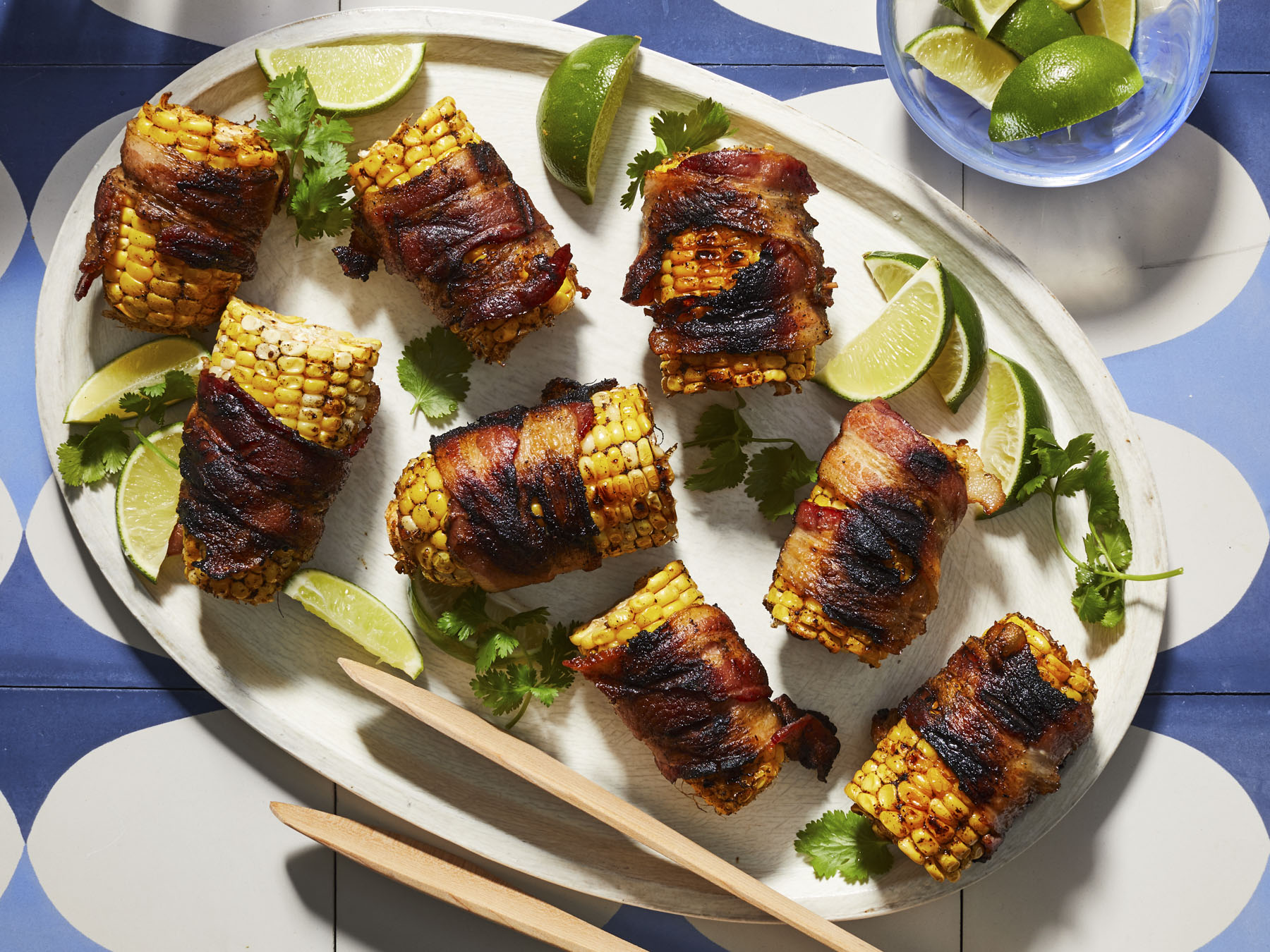 mr-Bacon-Wrapped Corn-on-the-Cob Image