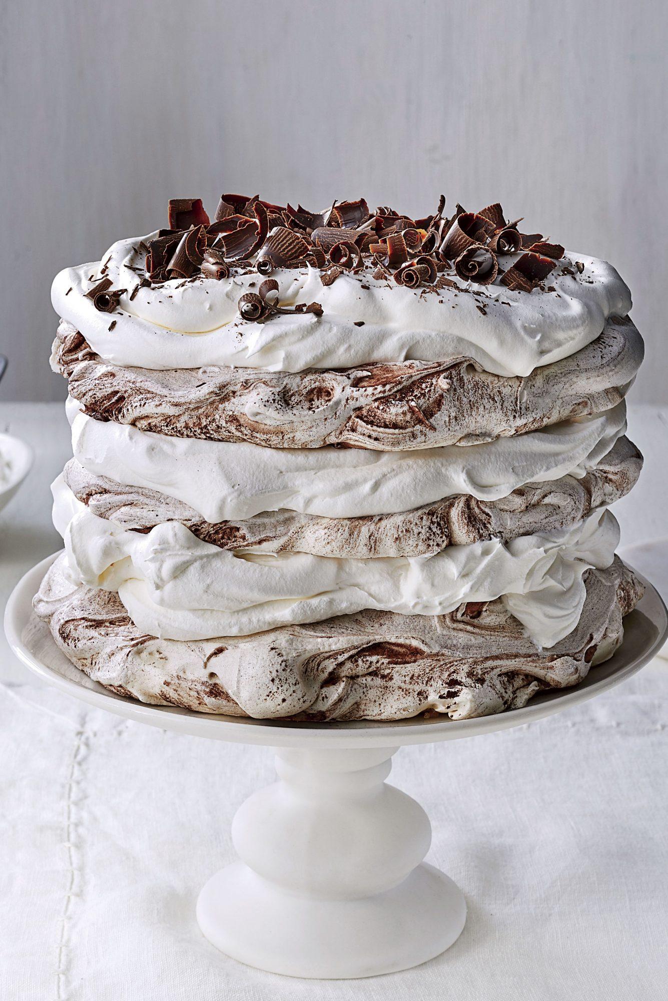 Chocolate-Coconut Pavlova Cake