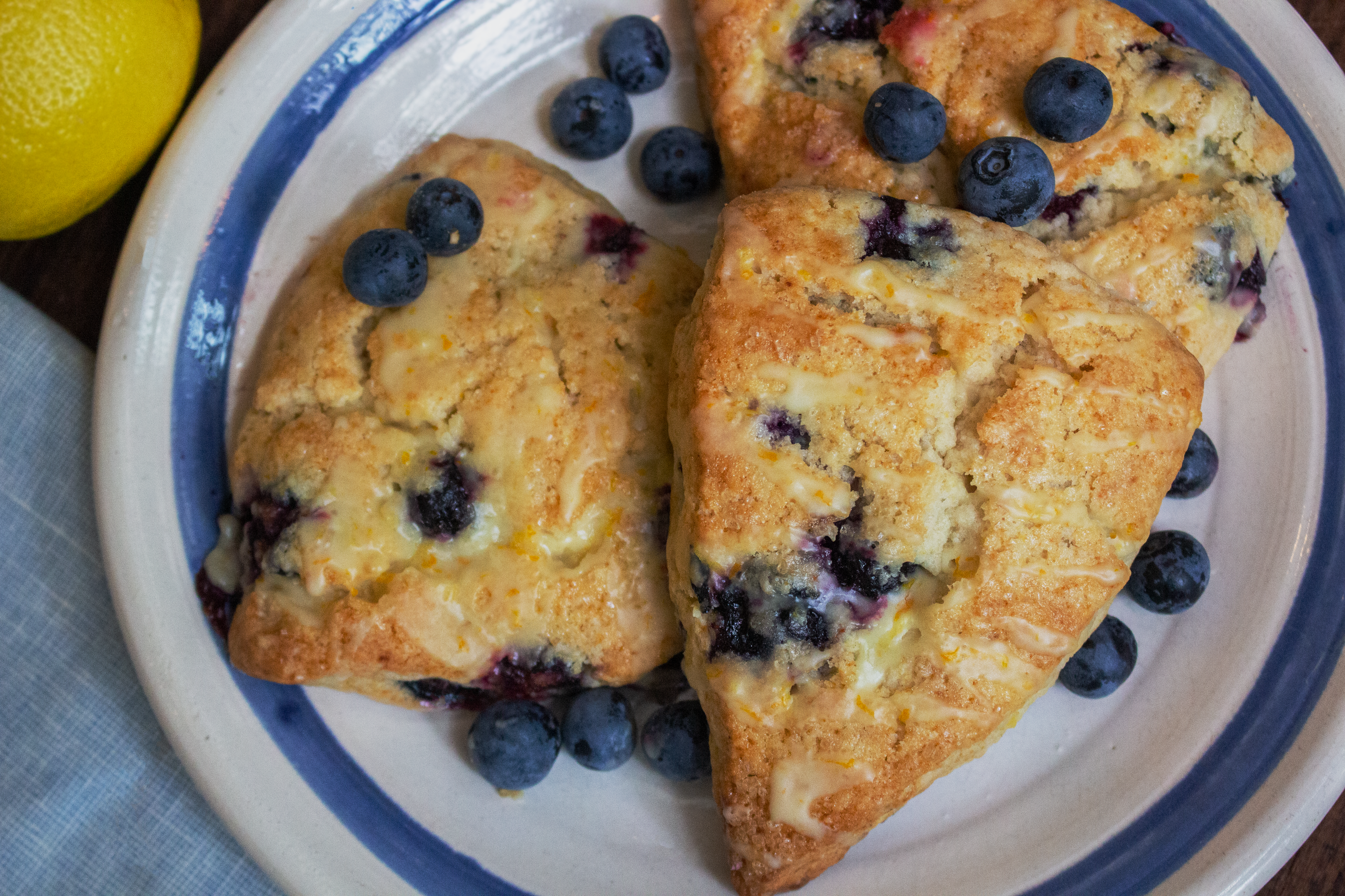 Basic Blueberry Scones Plated image