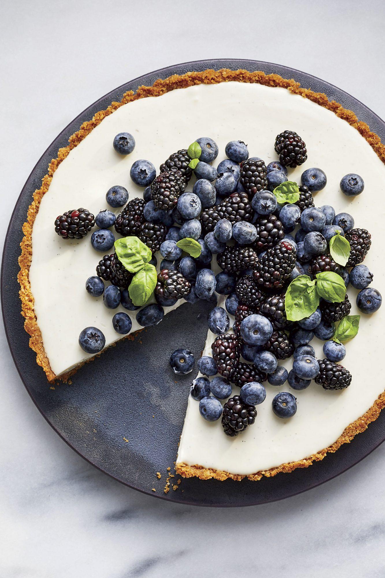 Black-and-Blue Buttermilk Tart