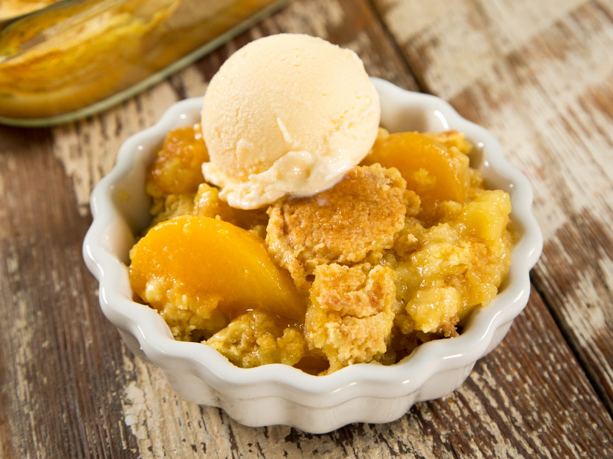 Easiest Peach Cobbler Ever image