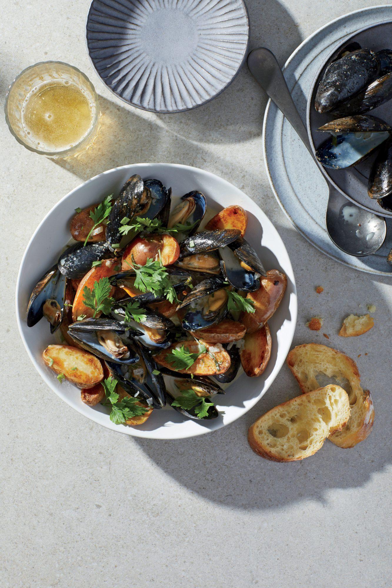 Cider-Steamed Mussels