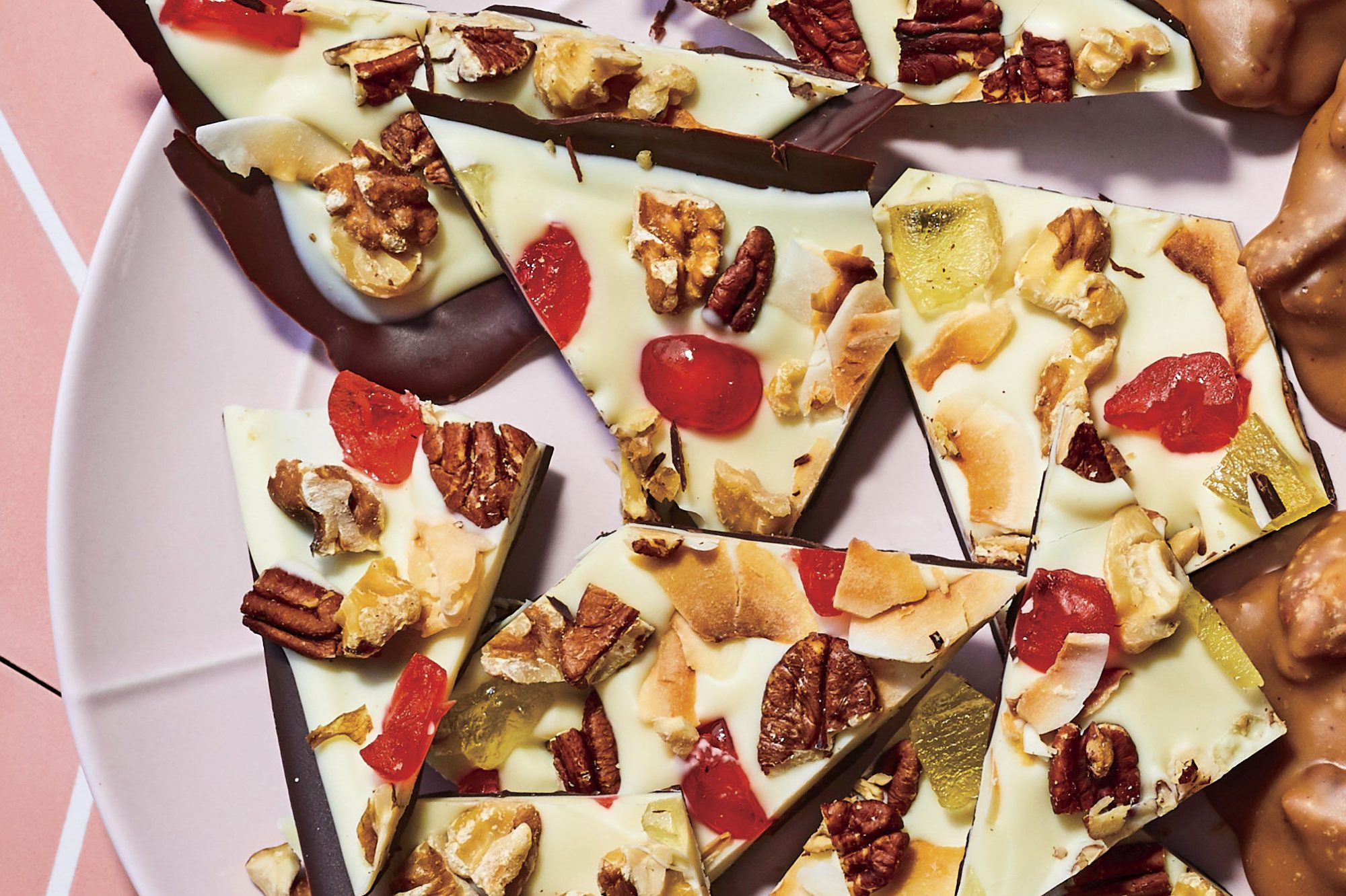 Fruitcake Chocolate Bark