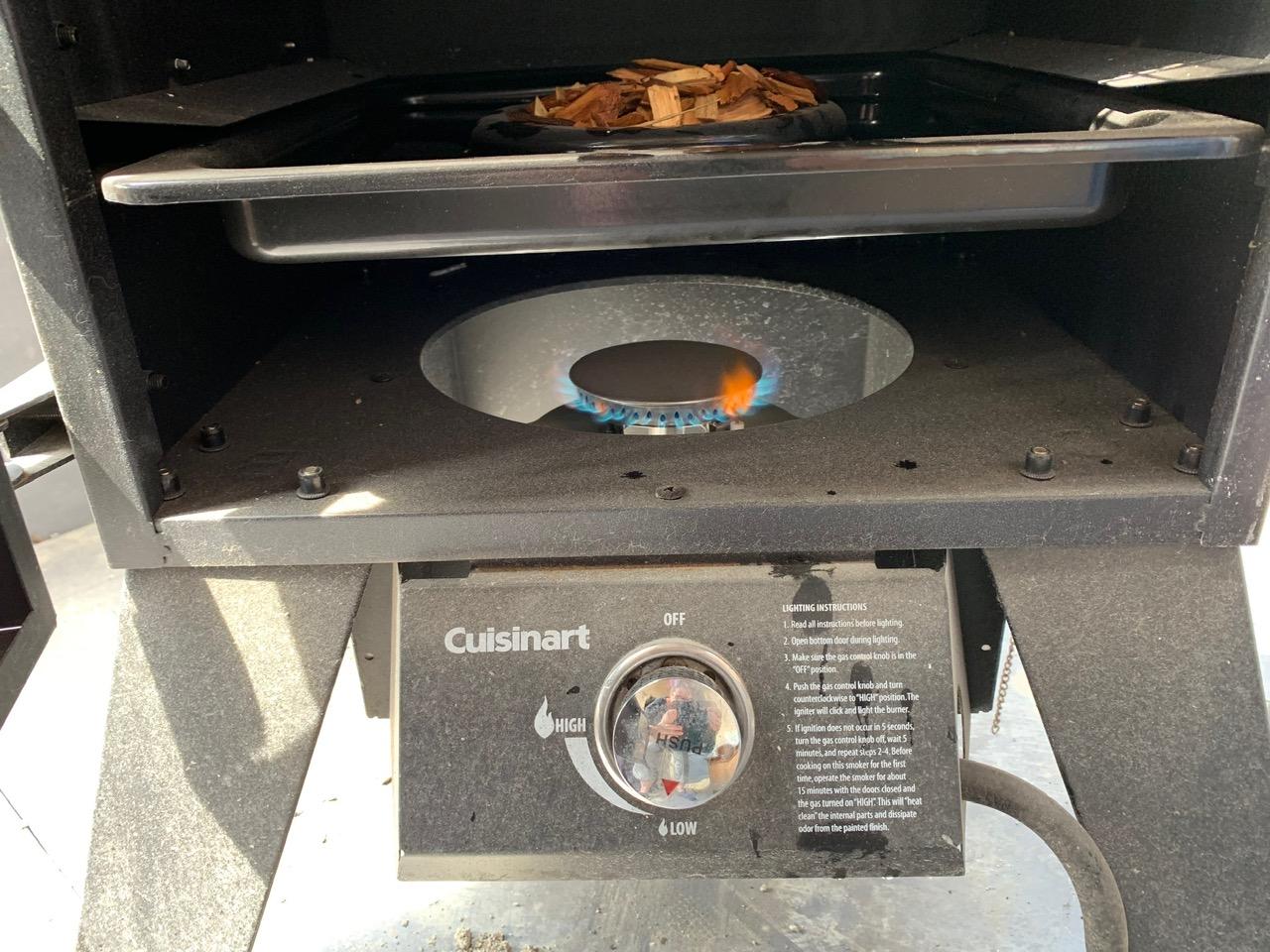 smoker burner on low