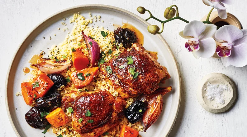Chicken Thighs With Sweet Potatoes and Prunes
