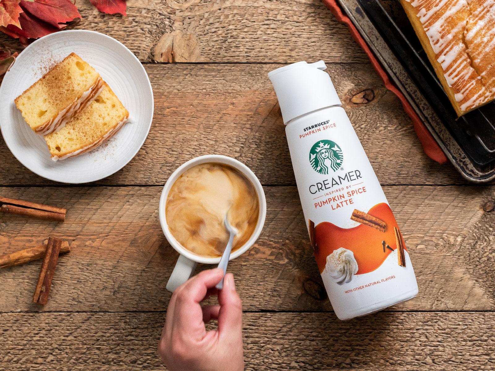 Starbucks Kicks Off PSL Season Early with New Pumpkin Spice Creamer