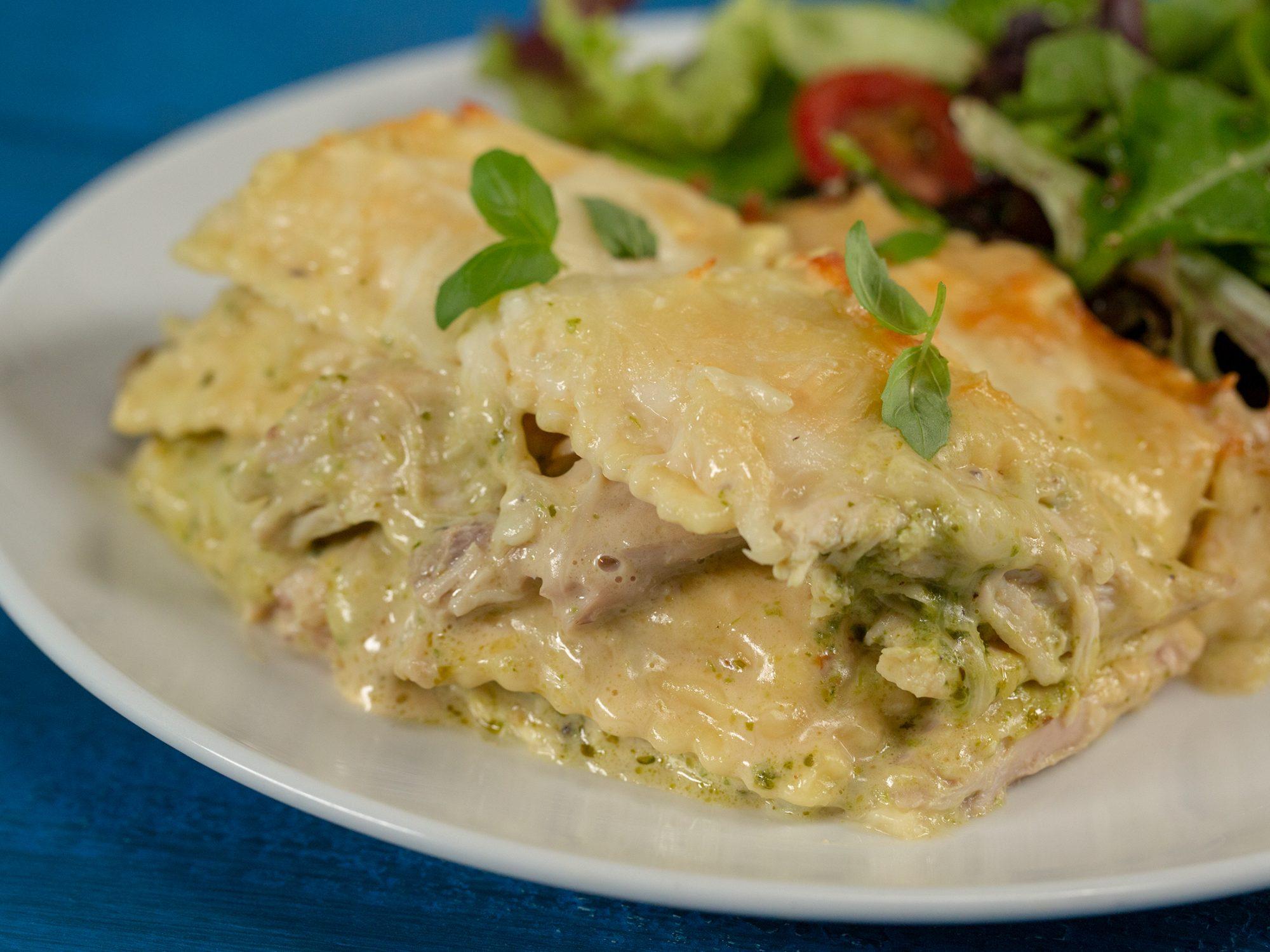 Creamy Chicken Ravioli Lasagna image